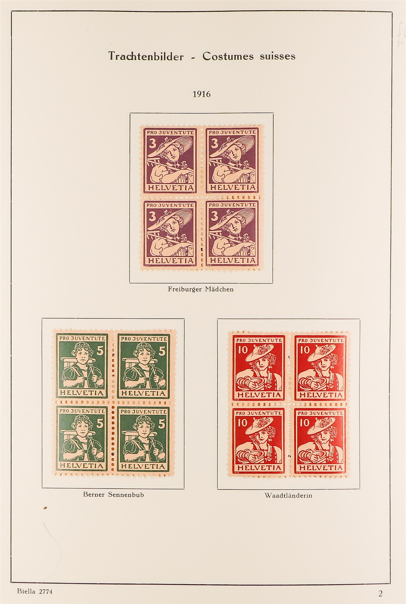 SWITZERLAND 1913-57 PRO JUVENTUTE collection of fine mint/never hinged blocks of four, S.T.C. £1580. - Image 2 of 8