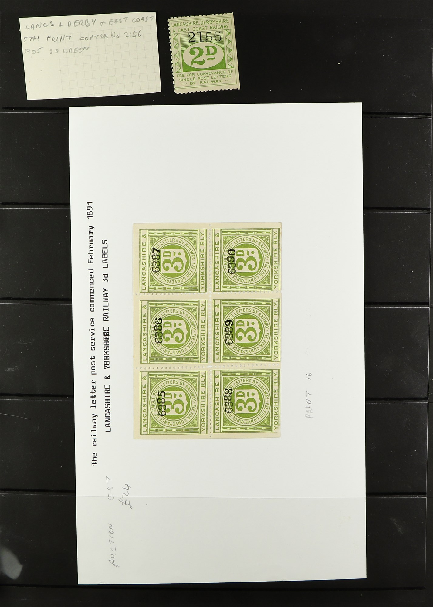 GREAT BRITAIN RAILWAY LETTER AND NEWSPAPER STAMPS 1890's-1940's COLLECTION in two albums, mint and - Image 10 of 24