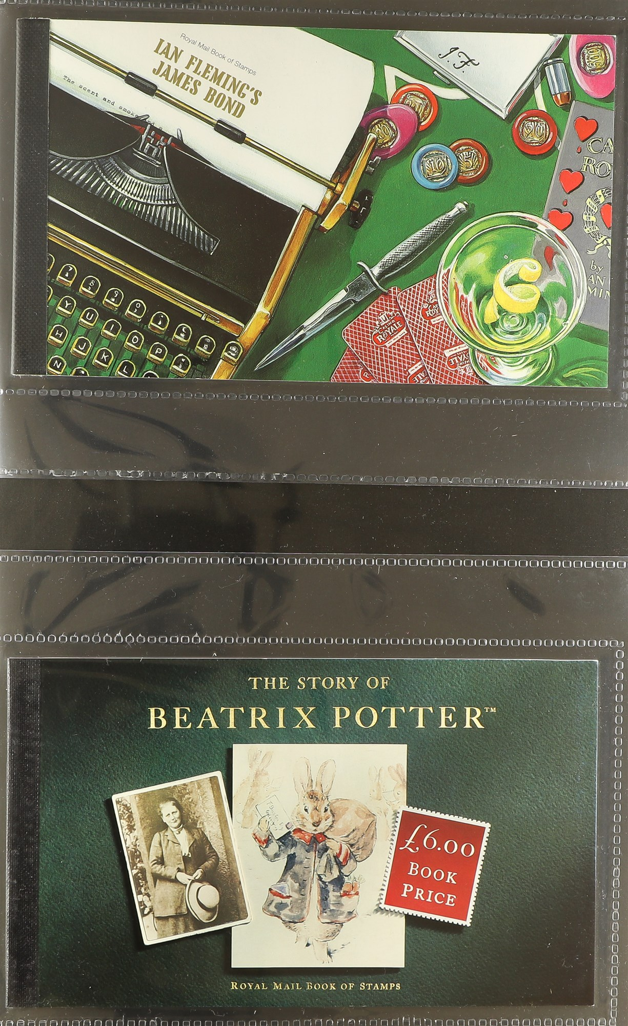 GB.ELIZABETH II PRESTIGE BOOKLET COLLECTION. The earliest being 'Beatrix Potter' (DX15) and the