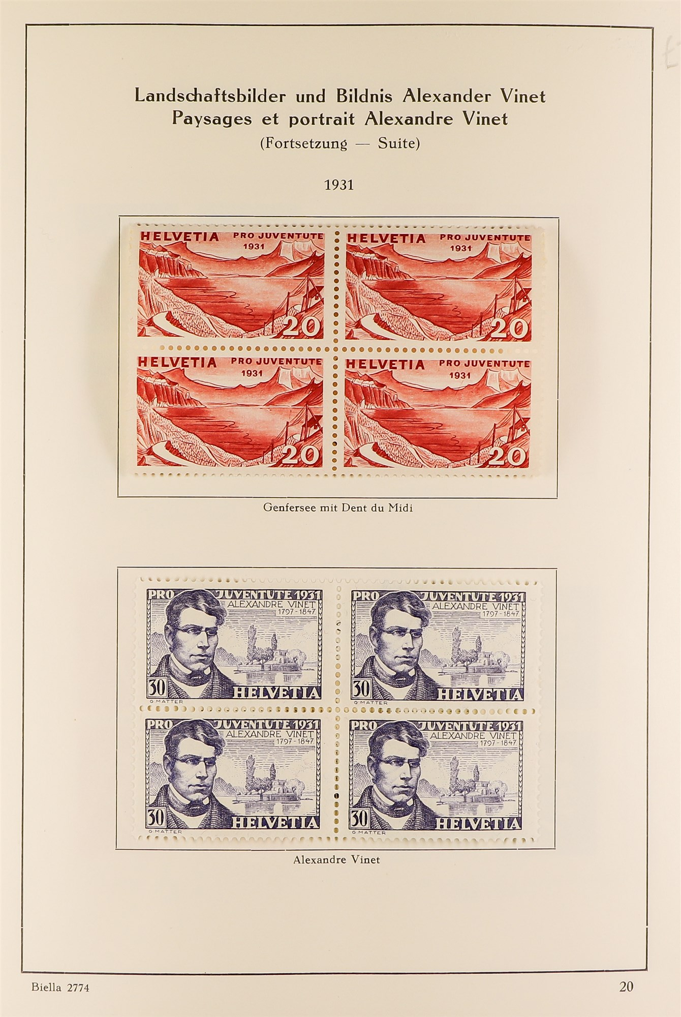 SWITZERLAND 1913-57 PRO JUVENTUTE collection of fine mint/never hinged blocks of four, S.T.C. £1580. - Image 5 of 8