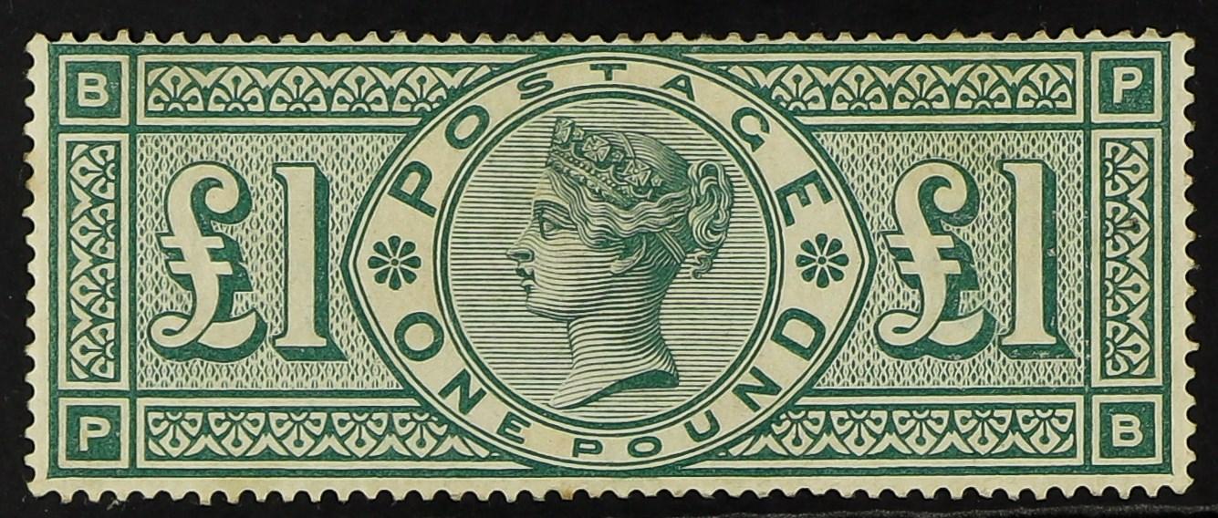 GB.QUEEN VICTORIA 1891 £1 green, SG 212, fine mint, slight gum toning.