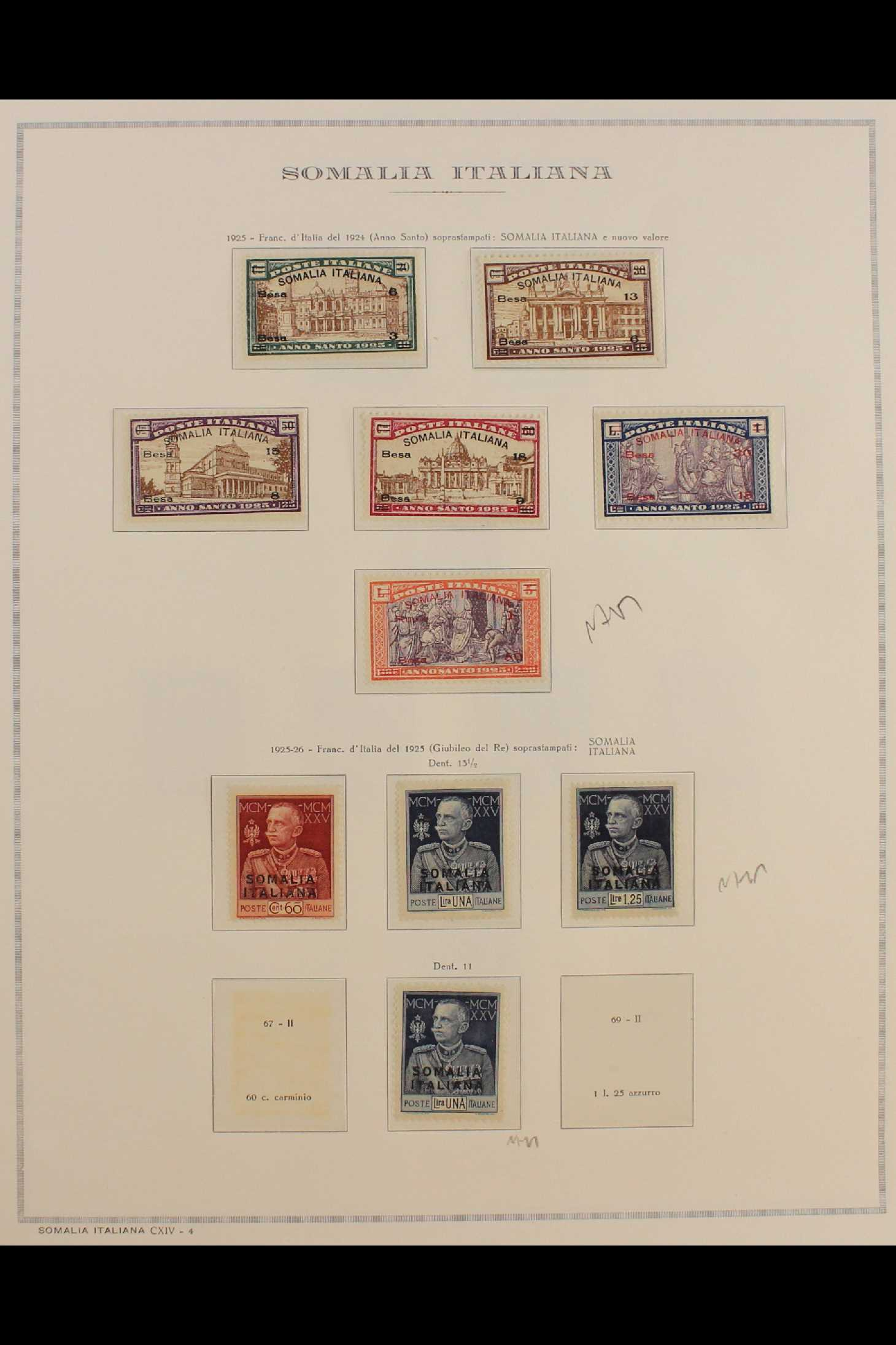 ITALIAN COLONIES SOMALIA 1922-1940 fine mint collection incl.1922 surcharged set, 1923 Fide set NHM, - Image 4 of 18