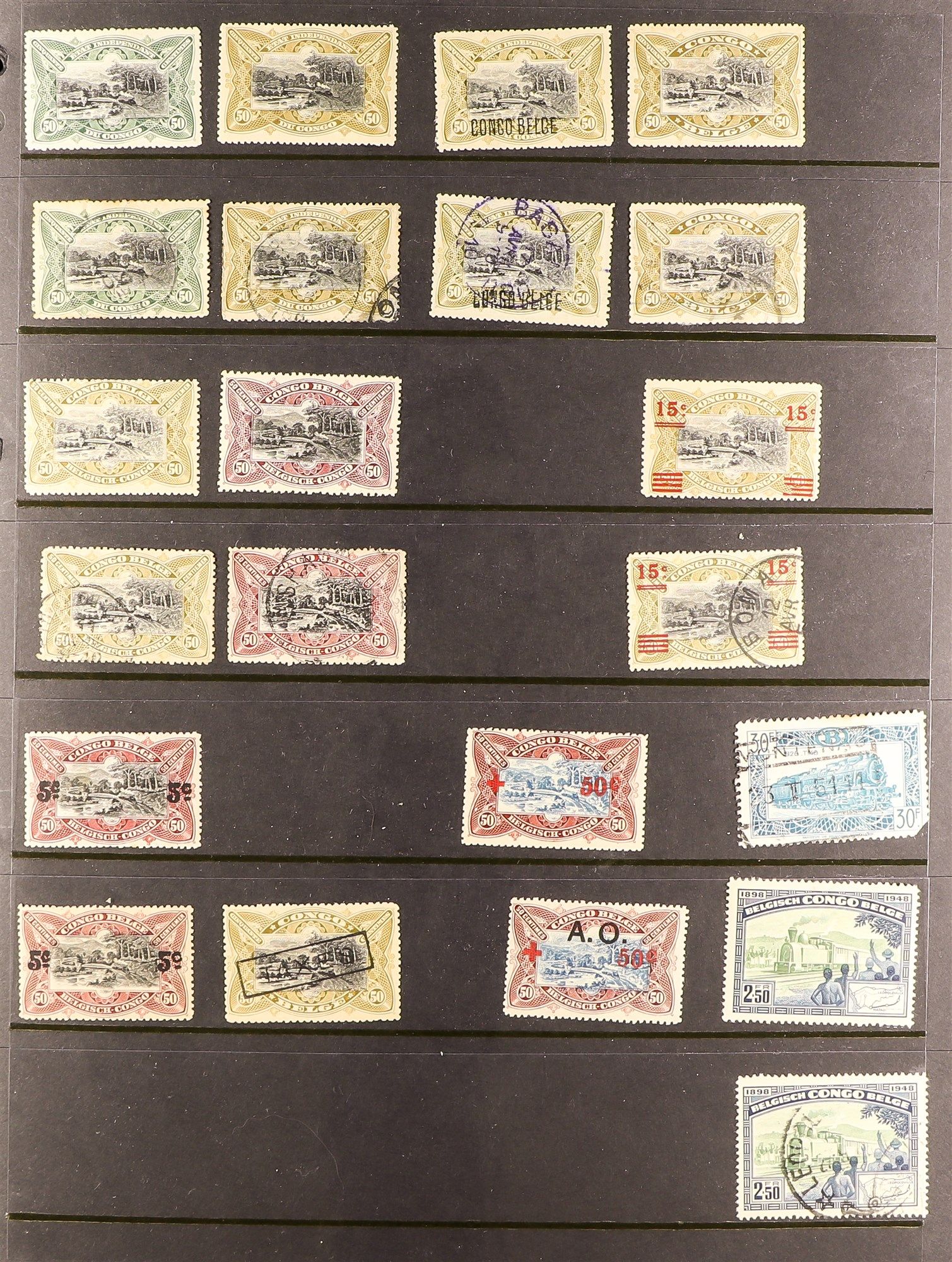 COLLECTIONS & ACCUMULATIONS RAILWAY & TRAINS ON STAMPS TOPICAL COLLECTION in six albums, early to