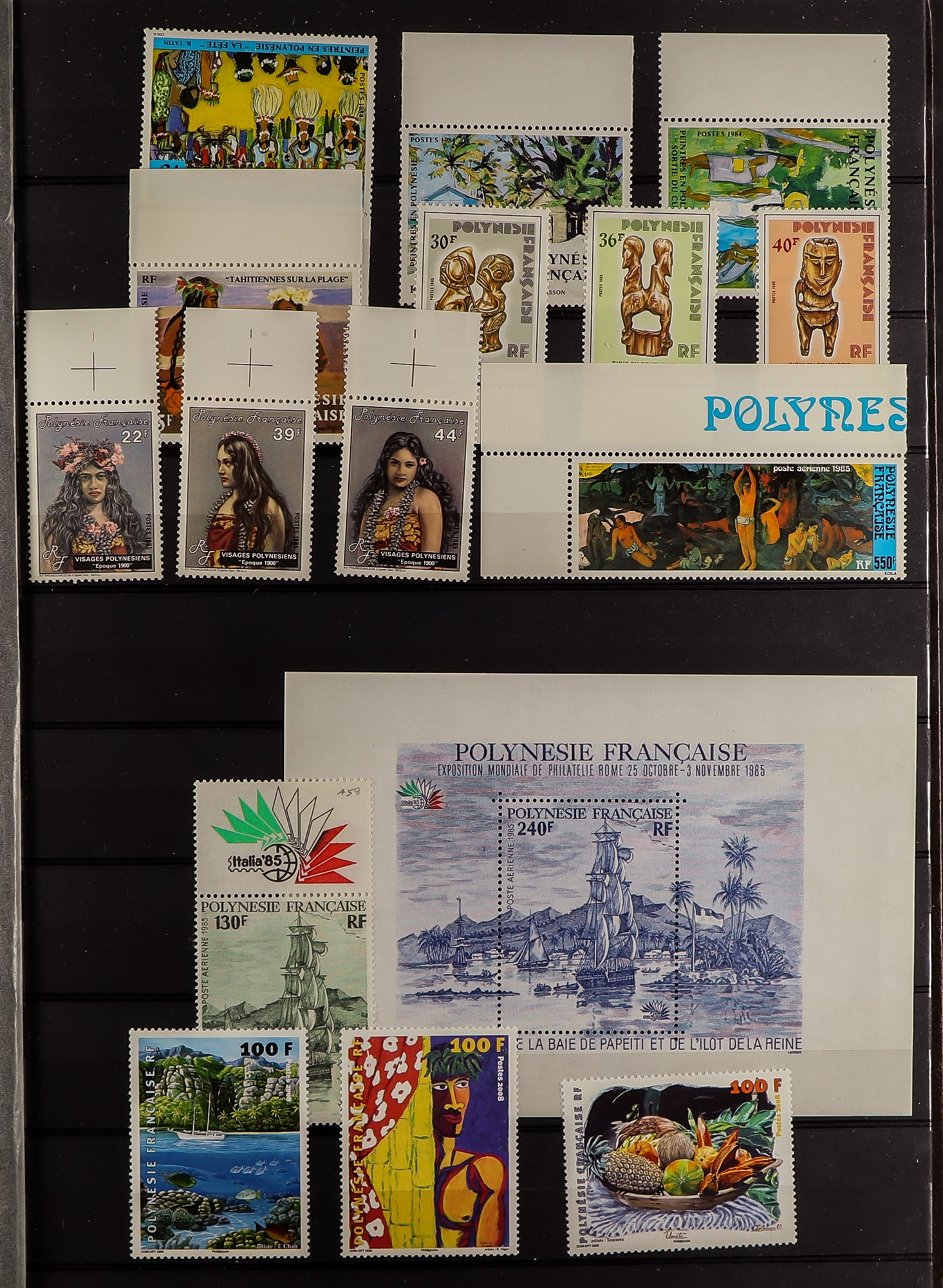 FRENCH COLONIES POLYNESIA 1948-2009 mint, largely never hinged collection, incl. few imperfs, - Image 2 of 9