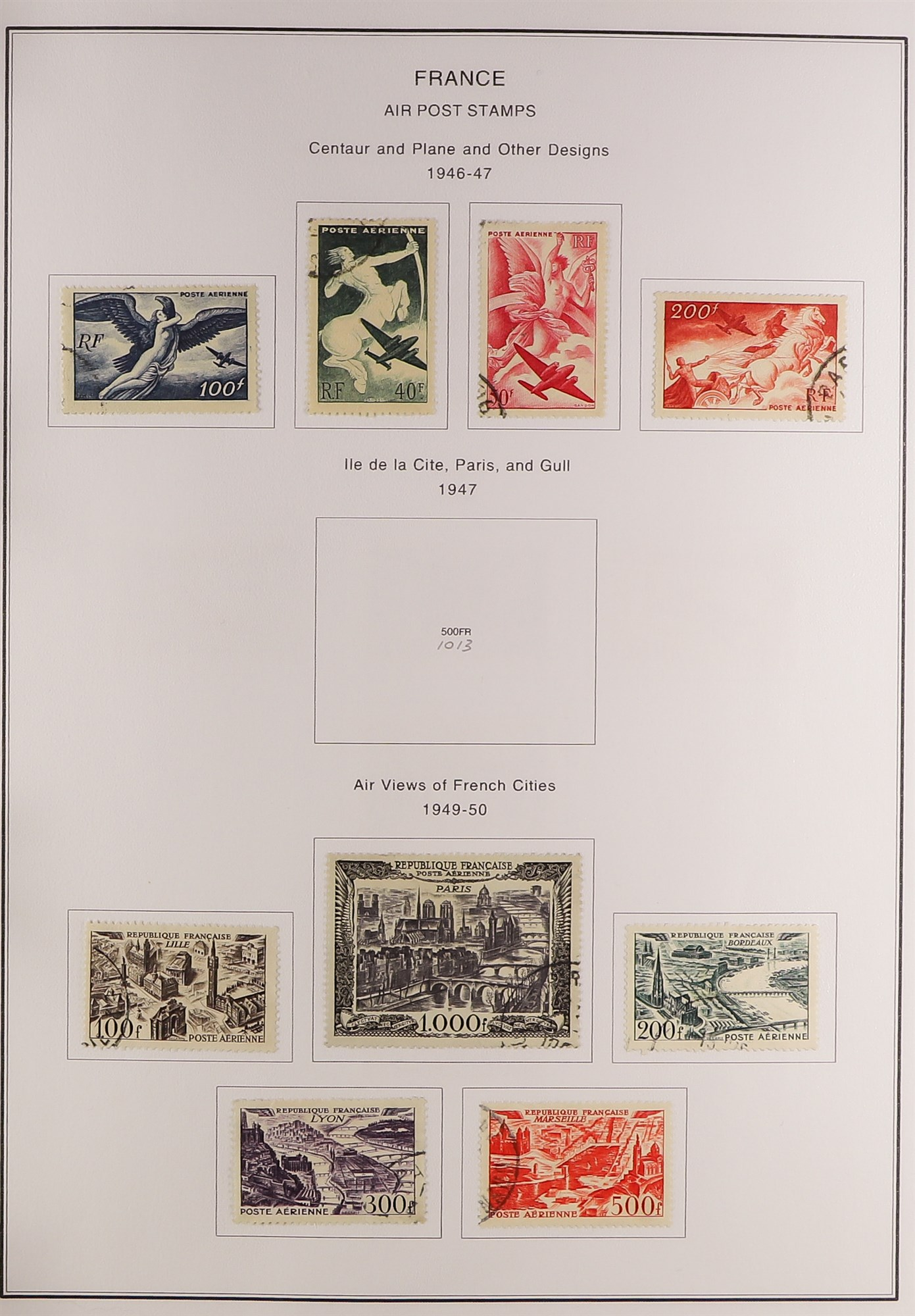FRANCE 1849-2009 EXTENSIVE COLLECTION of mint and used in thirteen albums, incl. mint (largely never - Image 8 of 16