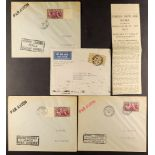 FRENCH COLONIES MADAGASCAR 1934-38 Airmail covers, with 1934 (July) Londonto Tananarive, 1938 three