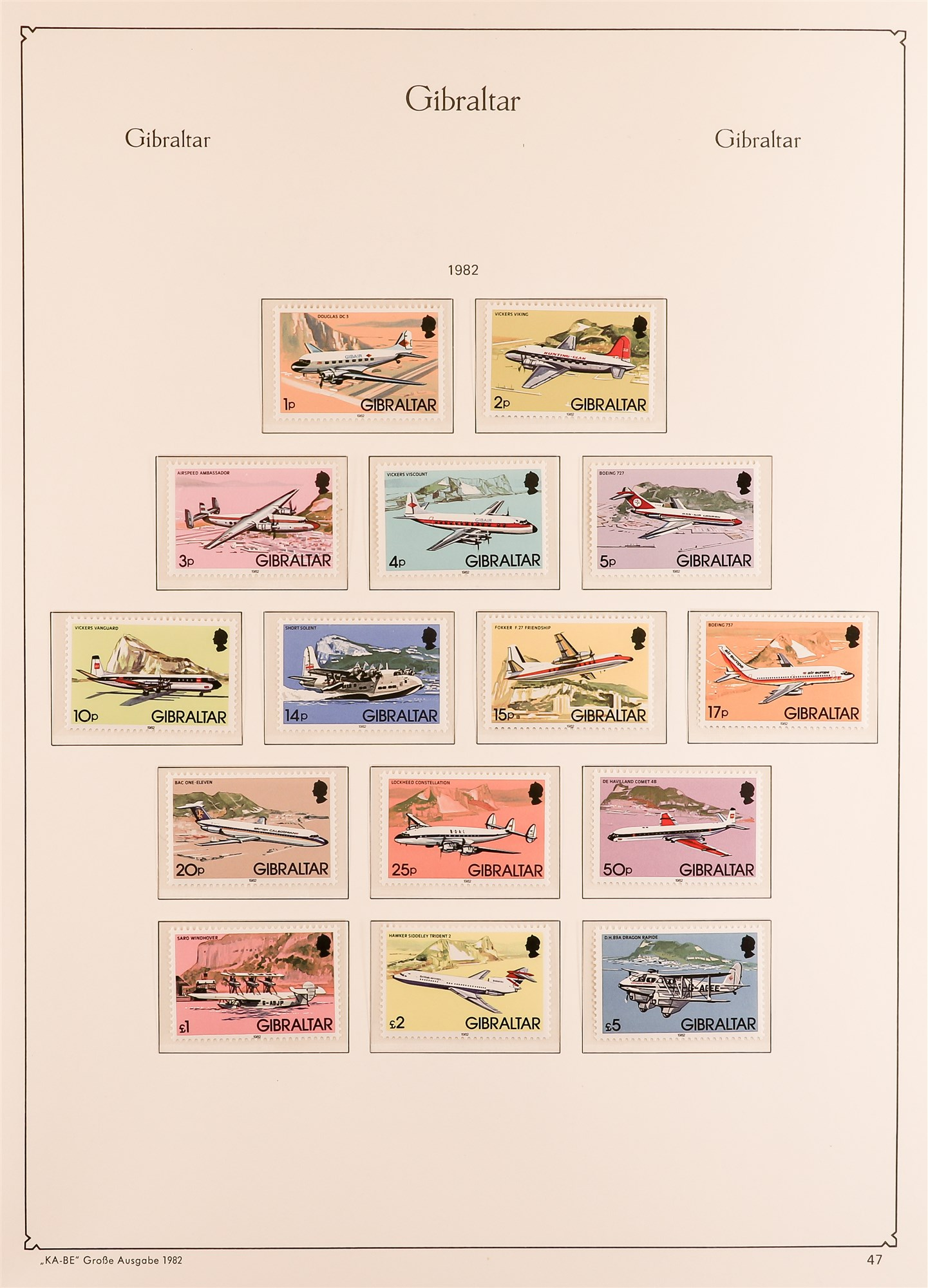 GIBRALTAR 1953-89 collection in a KA-BE album, mint incl. 1953-59 set, much of later is never hinged - Image 4 of 7