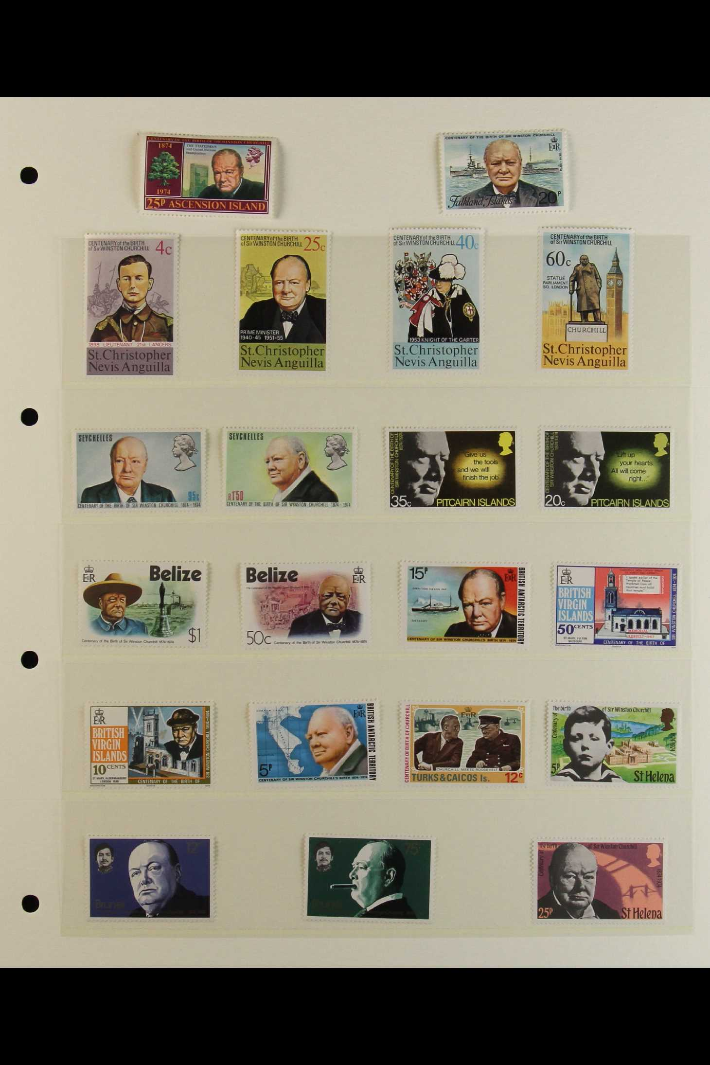 TOPICALS WINSTON CHURCHILL 1965-74 collection incl. 1965 sets on illustrated unaddressed FDC's incl. - Image 3 of 9