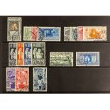 ITALIAN COLONIES GENERAL COLONIES Small used collection with 1932 100L Dante airmail, 1934 10L deep