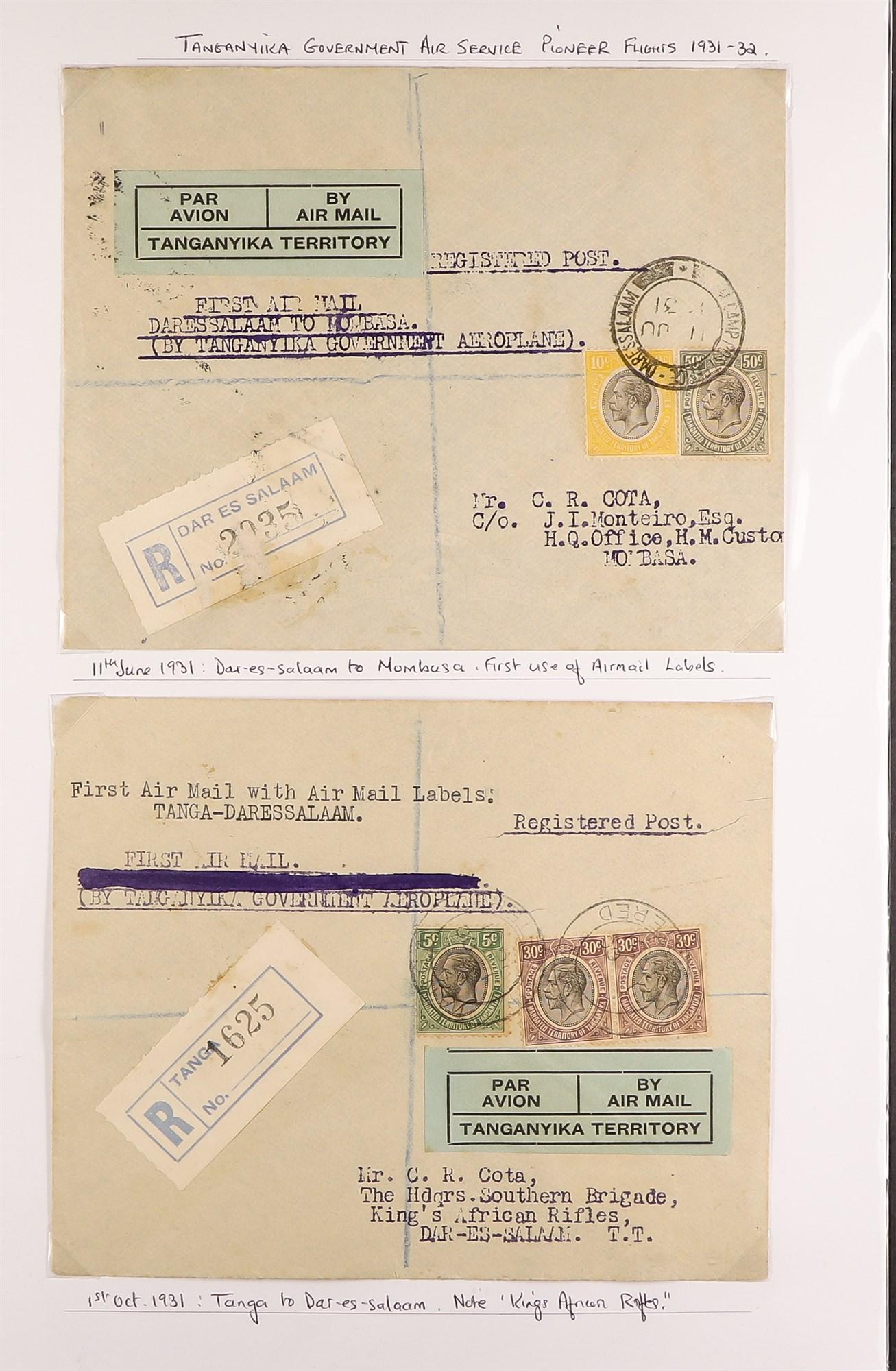 K.U.T. 1927-36 AIRMAIL COVERS COLLECTION incl. 1927 Kenya-Sudan, 1931 Christmas Flight, 1931 - Image 4 of 4