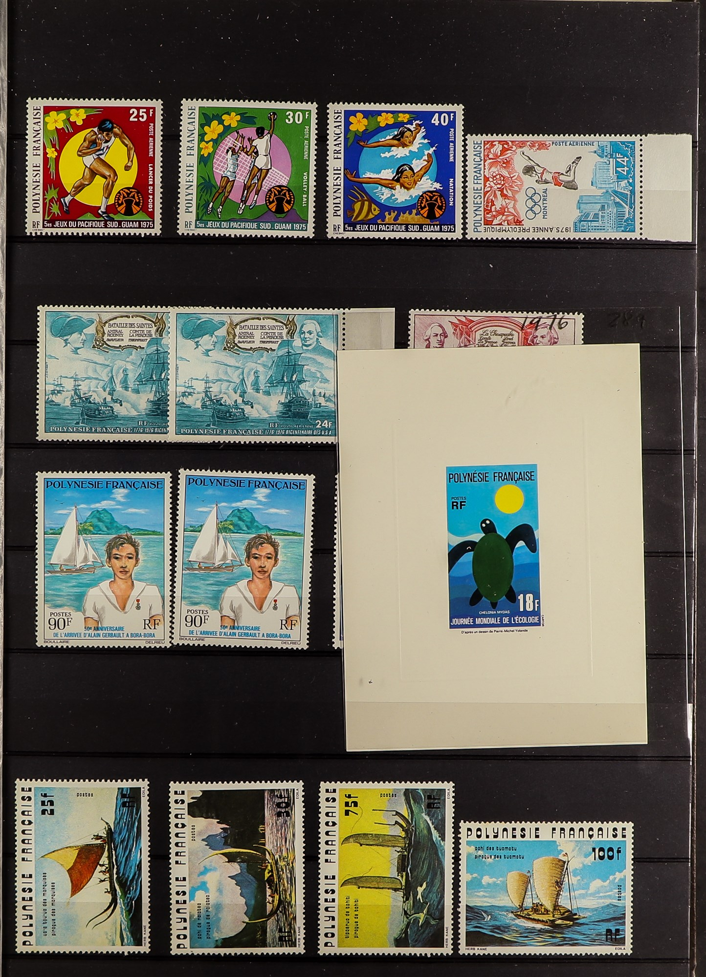 FRENCH COLONIES POLYNESIA 1948-2009 mint, largely never hinged collection, incl. few imperfs,