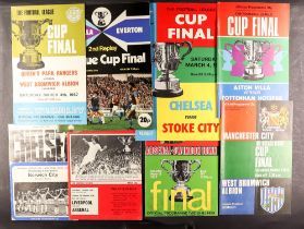 FOOTBALL PROGRAMMES - FINALS AND SEMI-FINALS. Approximately 164 FA Cup and League Cup programmes