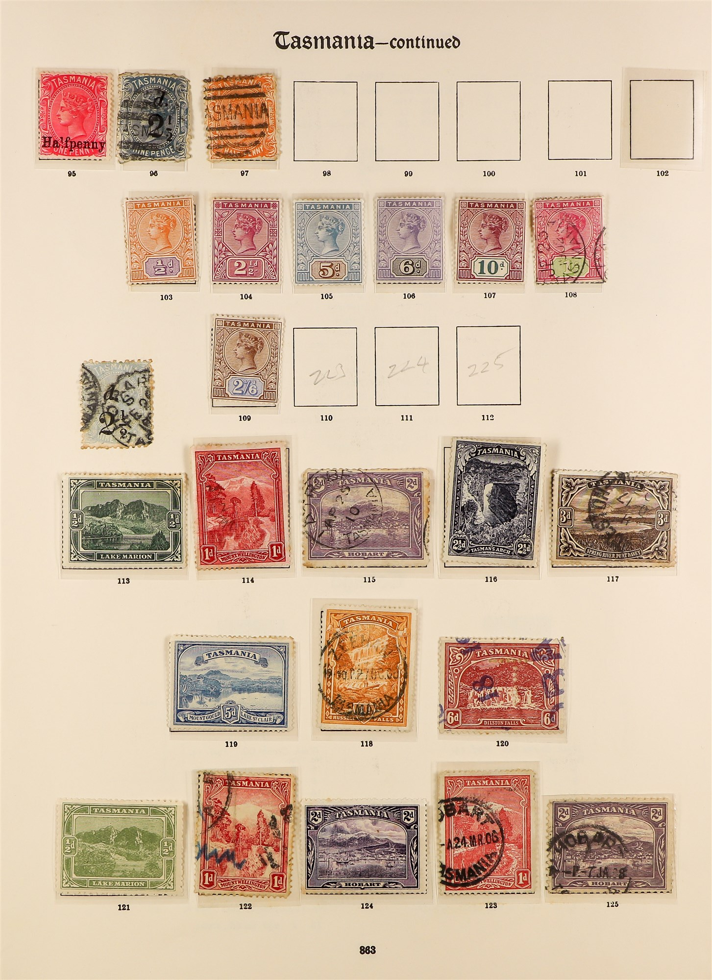 AUSTRALIAN STATES STATES ON IMPERIAL PAGES with ranges of NSW, Queensland, Tasmania, South , - Image 3 of 6