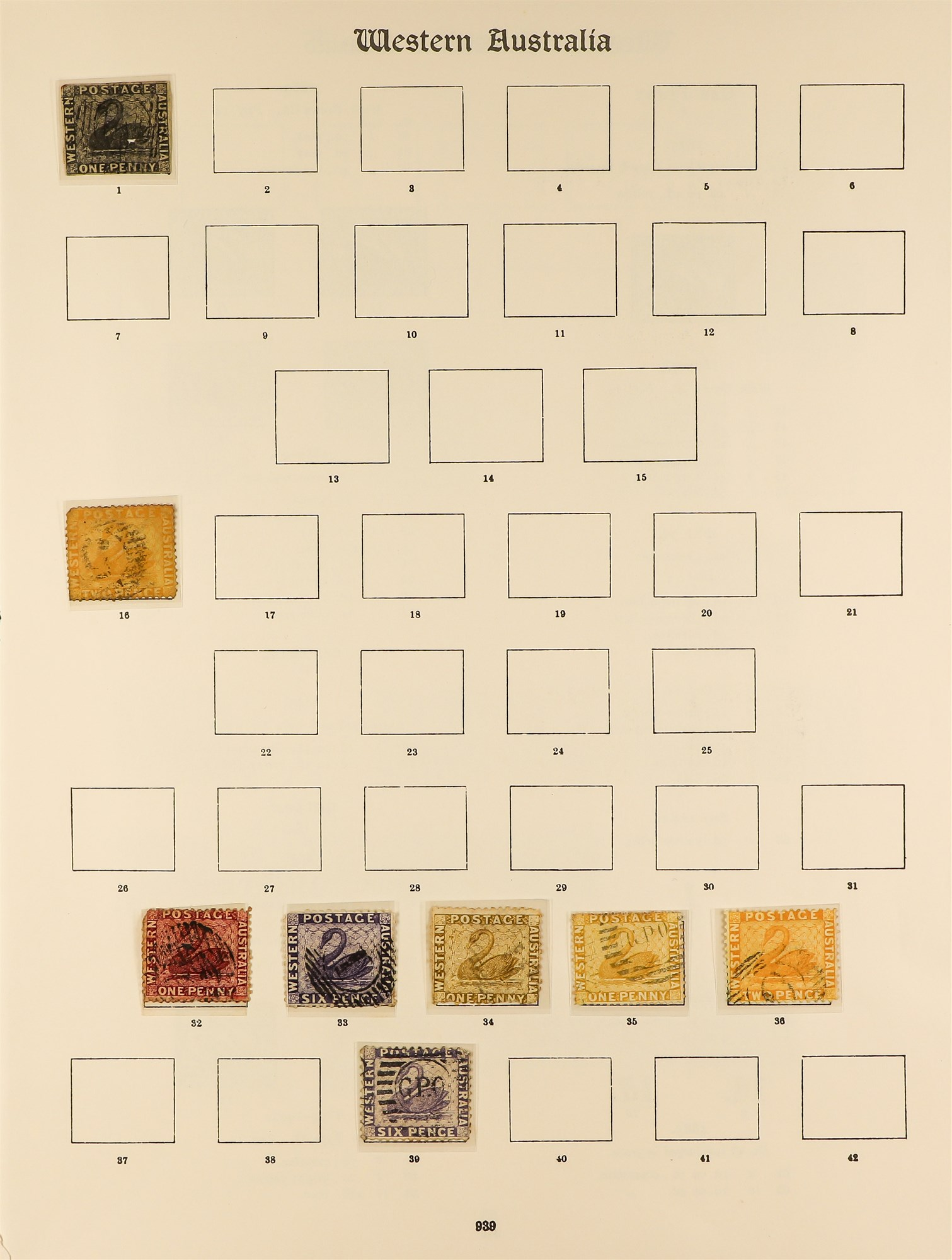 AUSTRALIAN STATES STATES ON IMPERIAL PAGES with ranges of NSW, Queensland, Tasmania, South , - Image 6 of 6