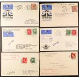 GB.ISLANDS ISLE OF MAN 1934-36 AIR MAIL COVERS with 1934 Railway Air Services Cardiff to Douglas,