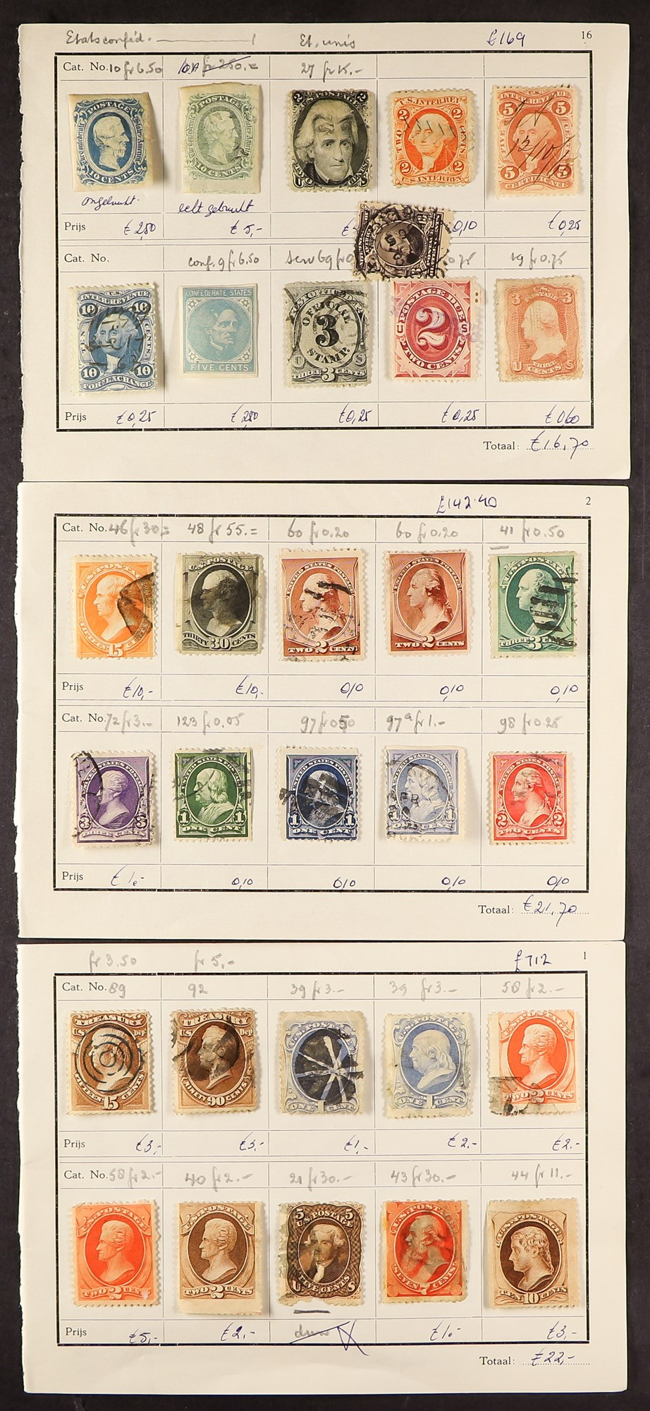UNITED STATES EARLY TO MODERN RANGES in French approval books, incl. better 19th century, S.T.C. £