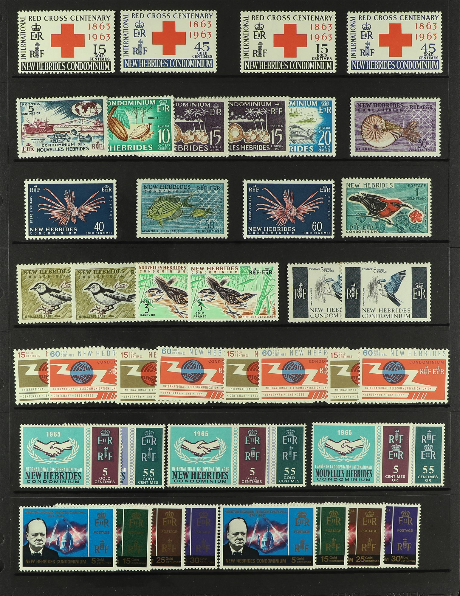NEW HEBRIDES 1908-1990's STOCK BOOK of English & French lightly duplicated mint, nhm & a few used - Image 4 of 11