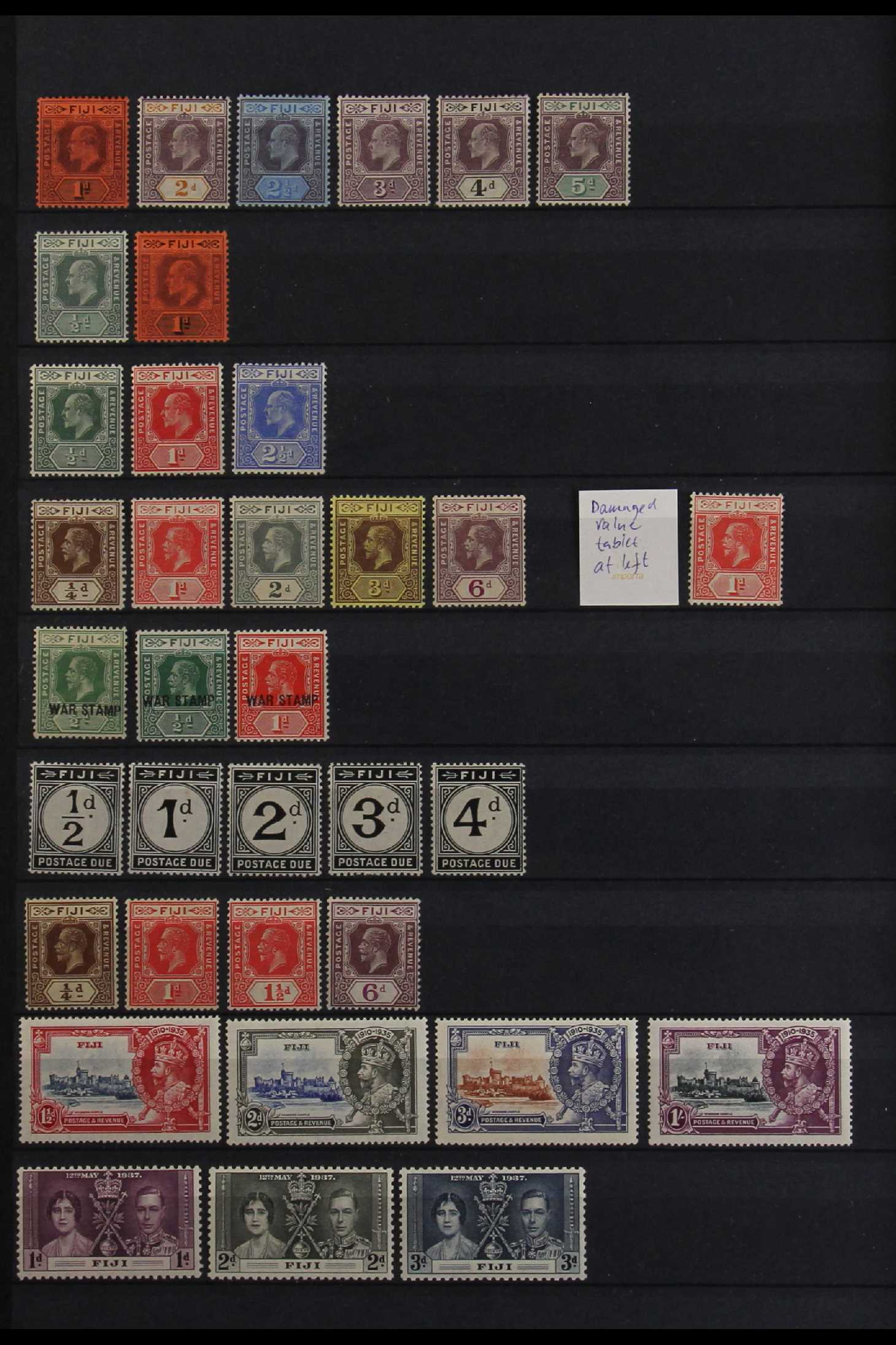 FIJI 1903-70 FINE MINT COLLECTION incl. 1903 set to 5d (excl. ½d), 1904-09 ½d & 1d, 1906-12 to 2½