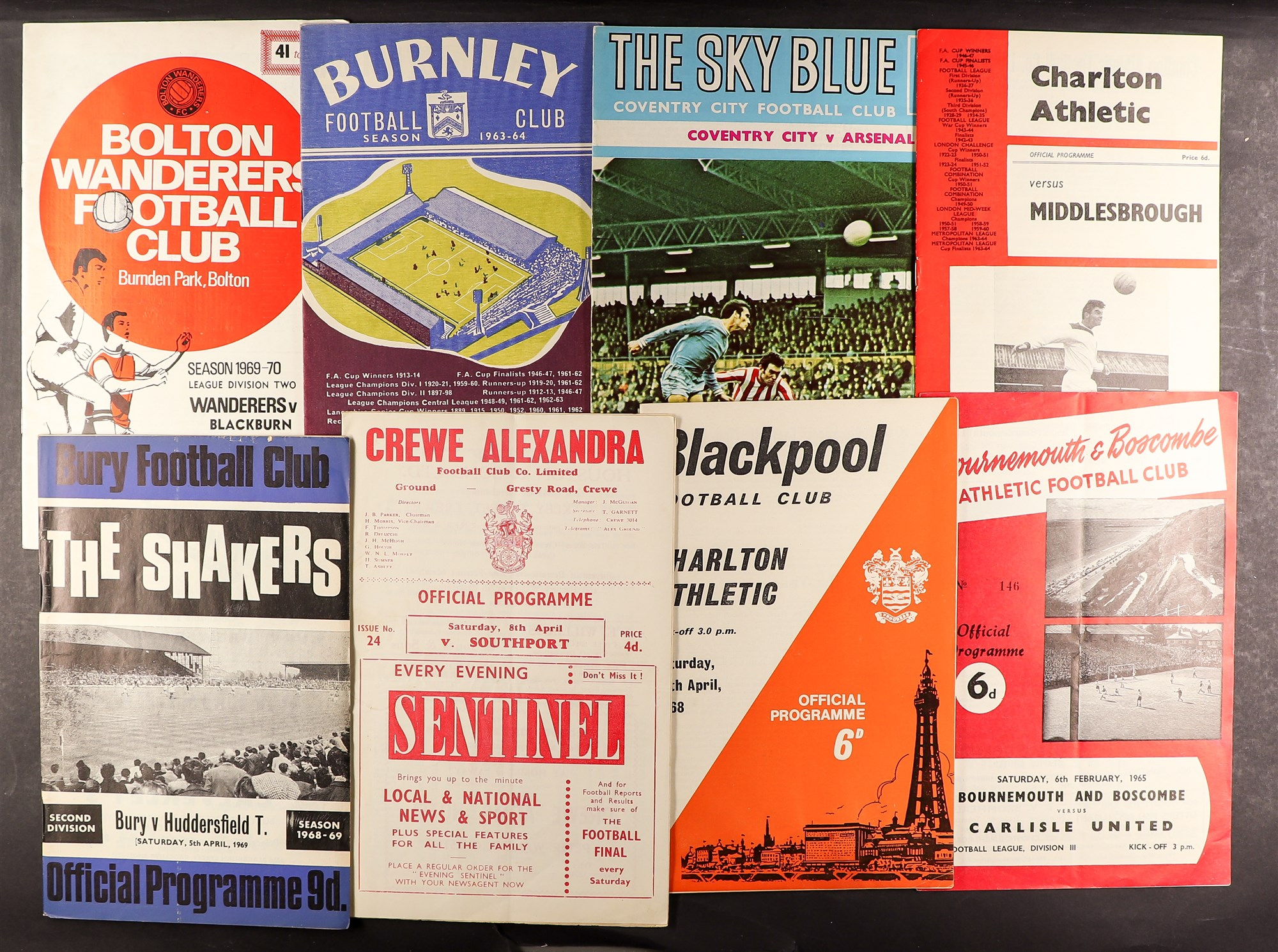 FOOTBALL PROGRAMMES - 1960's SELECTION. A range of clubs with a stronger representation of Everton, - Image 2 of 4