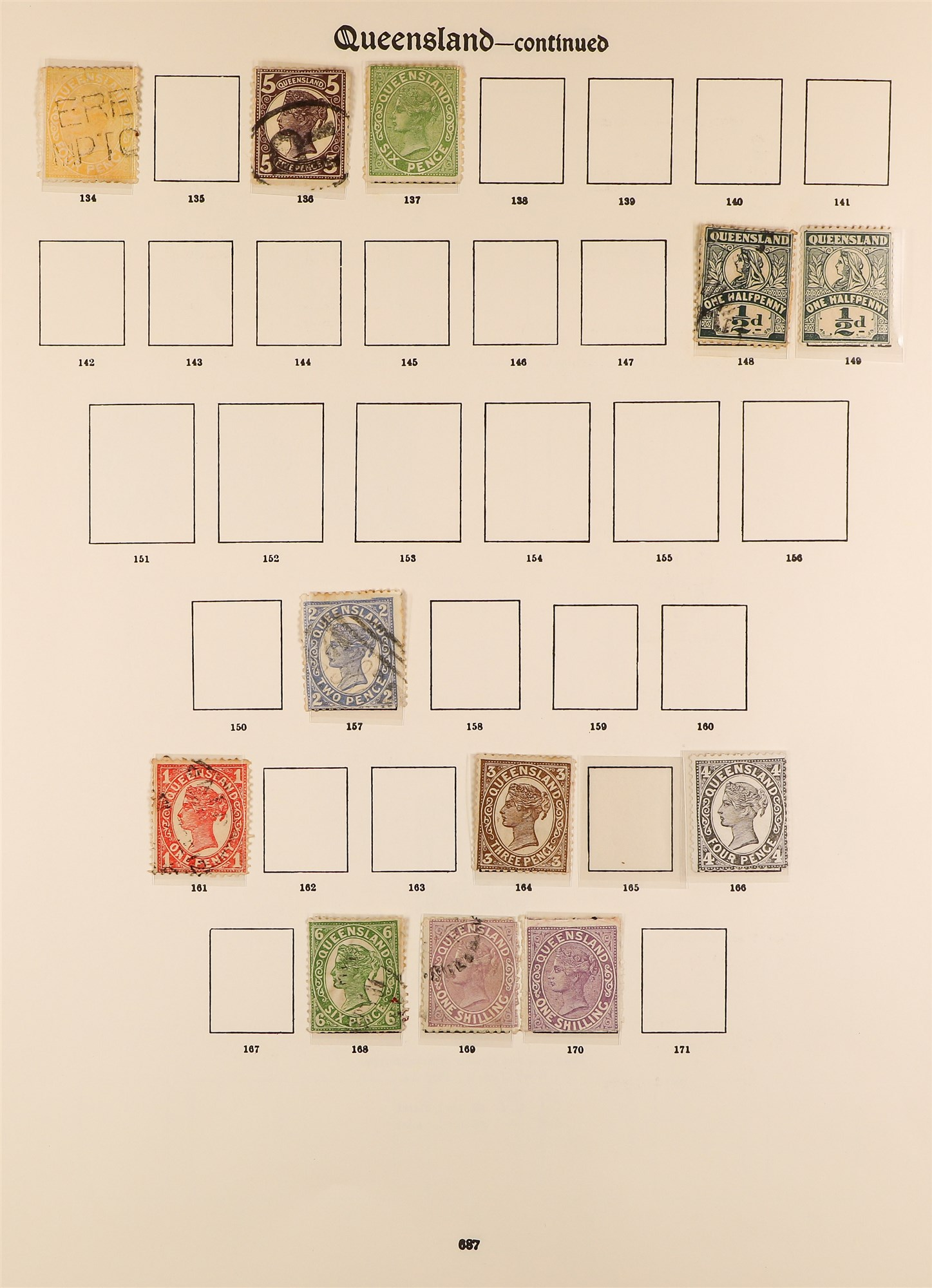 AUSTRALIAN STATES STATES ON IMPERIAL PAGES with ranges of NSW, Queensland, Tasmania, South , - Image 2 of 6