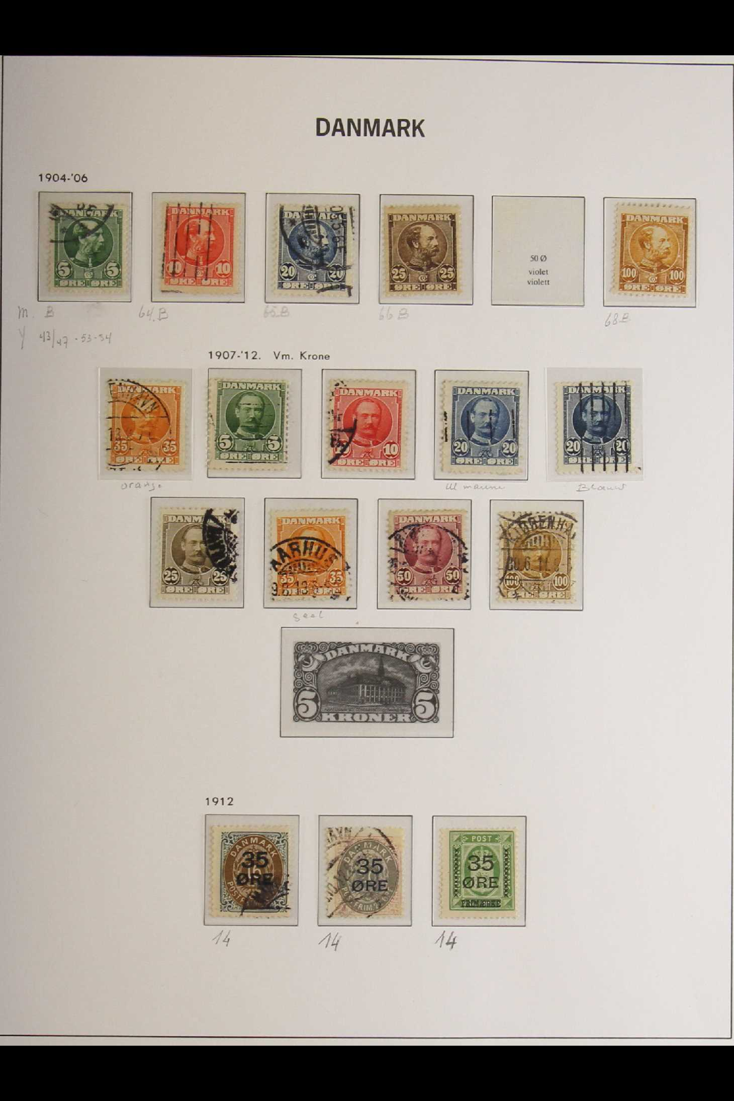 DENMARK 1882-1969 mint and used collection in an album incl. 1882 (small corner figures) 5 ore and - Image 13 of 15