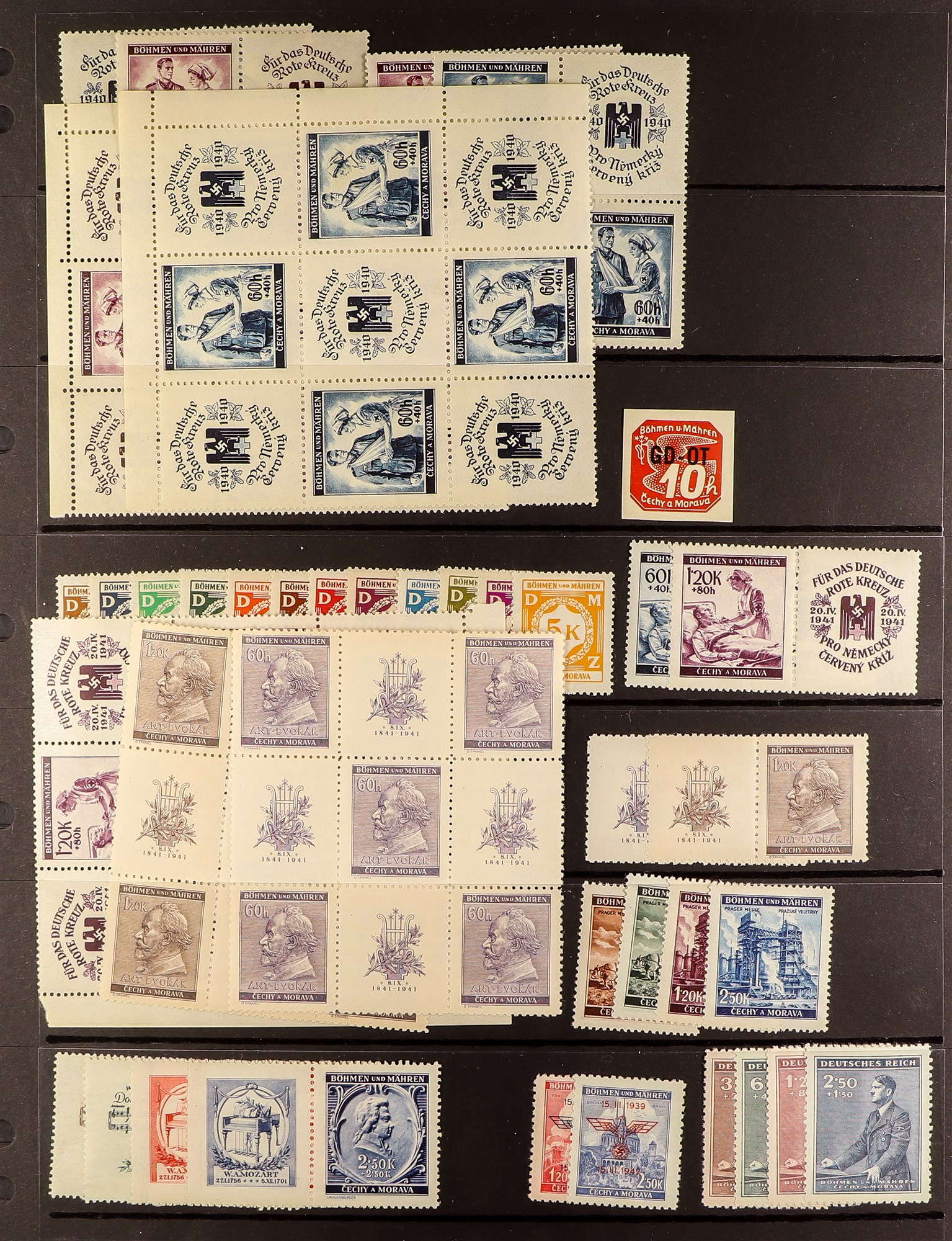 GERMAN OCCUPATIONS BOHEMIA AND MORAVIA 1939-44 never hinged mint collection, incl. 1939 - Image 2 of 4