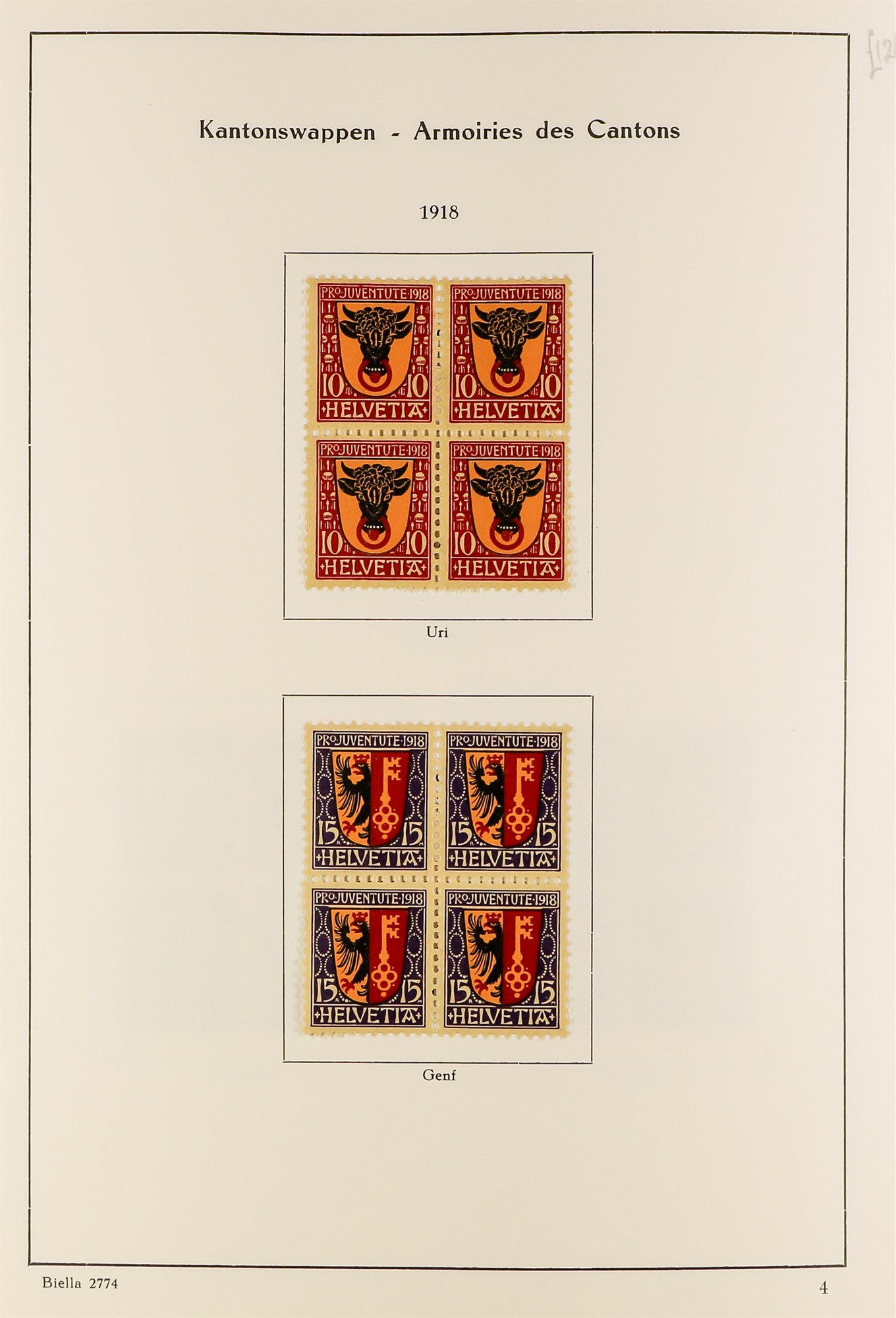 SWITZERLAND 1913-57 PRO JUVENTUTE collection of fine mint/never hinged blocks of four, S.T.C. £1580. - Image 3 of 8