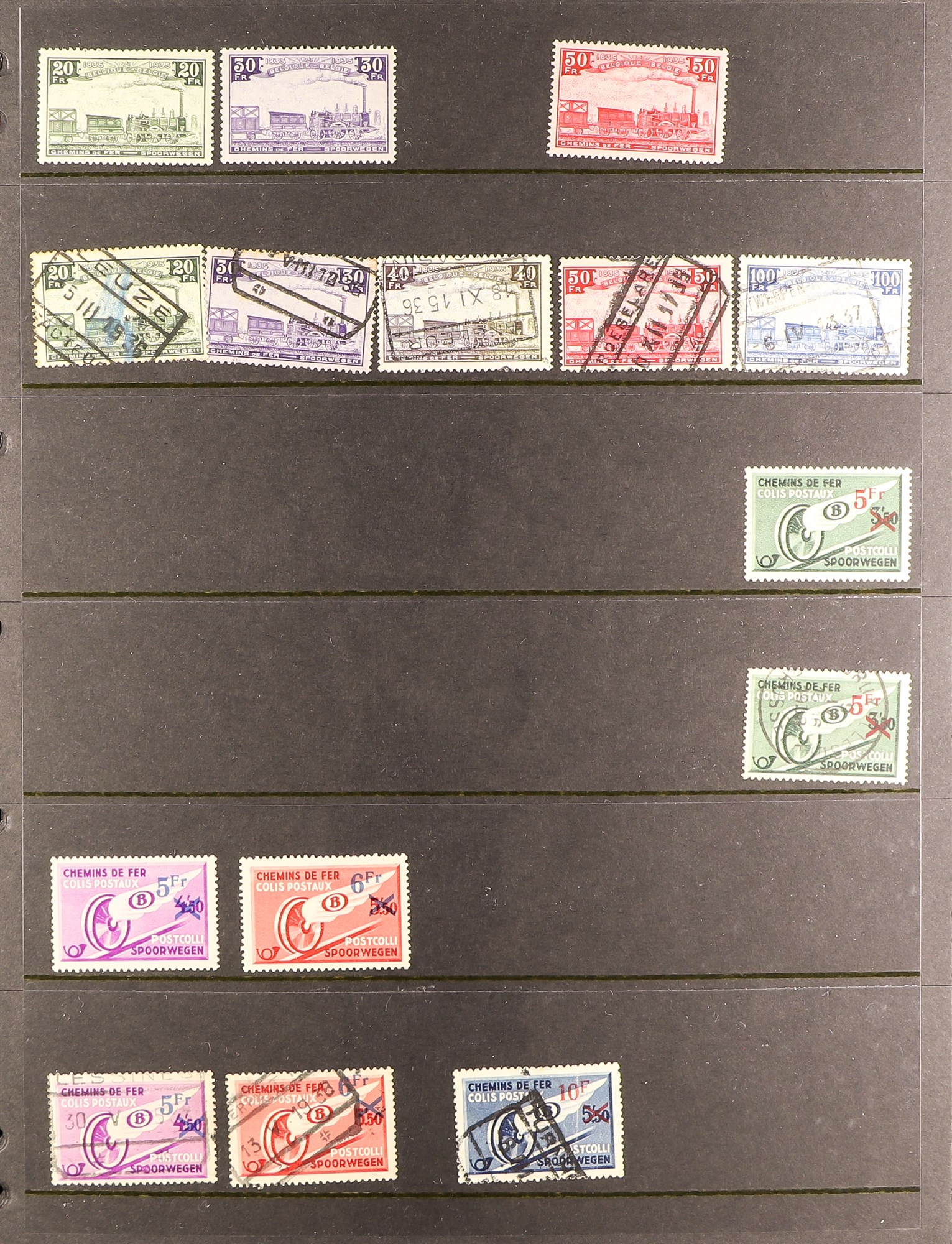 COLLECTIONS & ACCUMULATIONS RAILWAY & TRAINS ON STAMPS TOPICAL COLLECTION in six albums, early to - Image 2 of 7