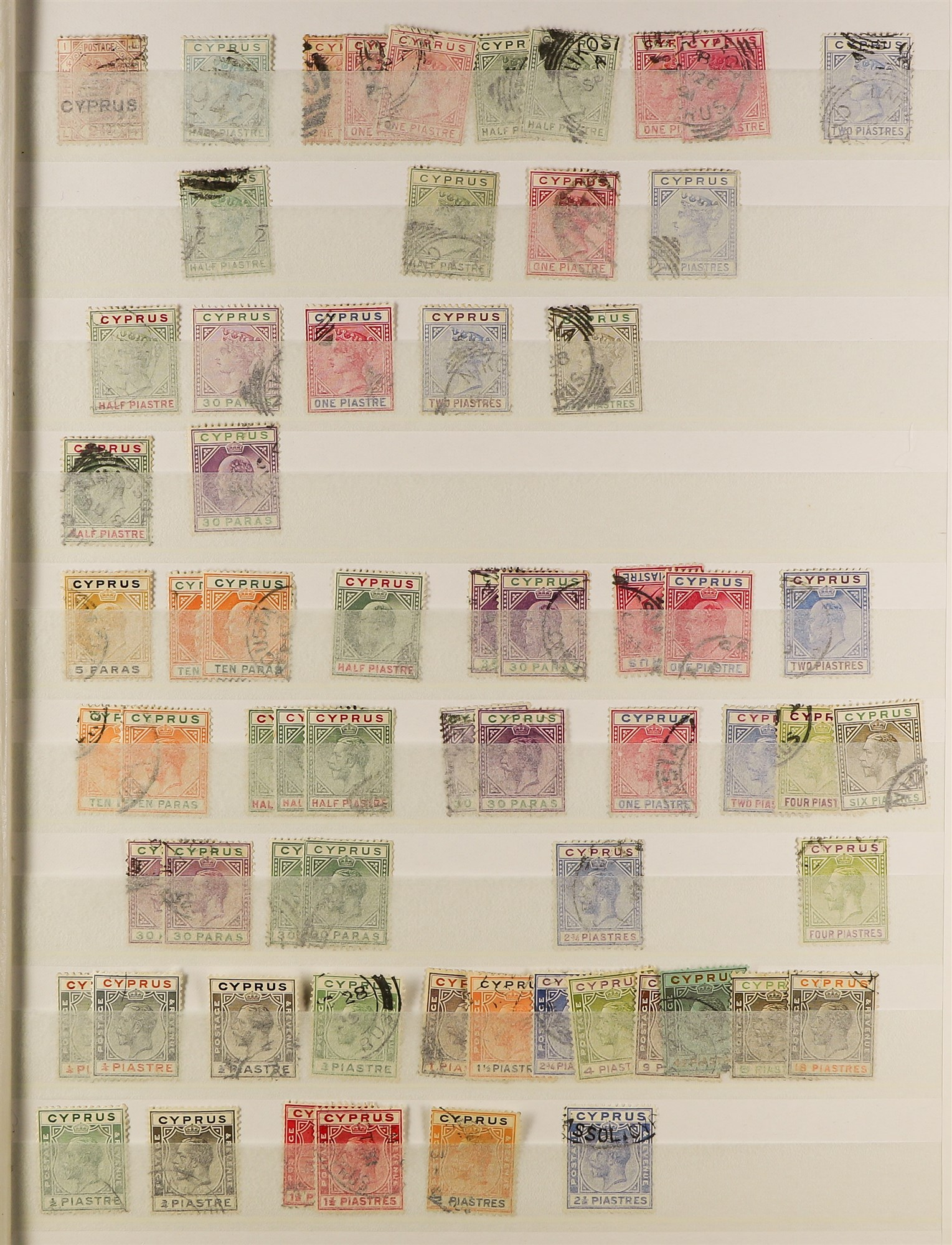 """CYPRUS 1881-2002 ranges of largely used in two stockbooks and 1953-81 fine used in a """"Collecta"""""""