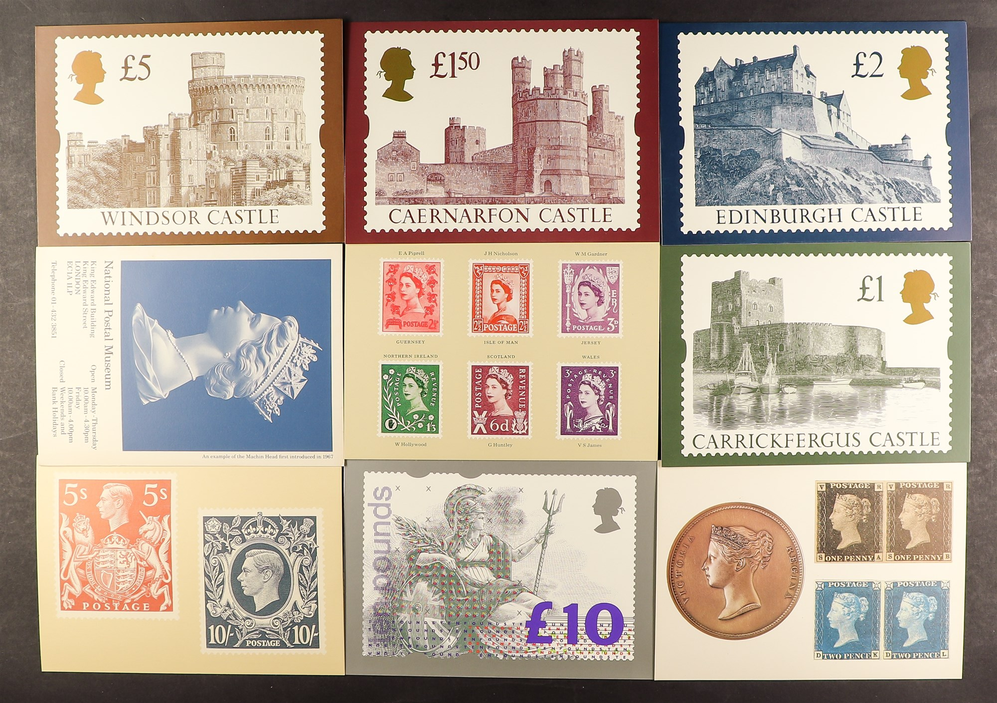 GB.ELIZABETH II 1970s - 2000s PHQ CARDS in large box with hundreds of complete sets loose, in