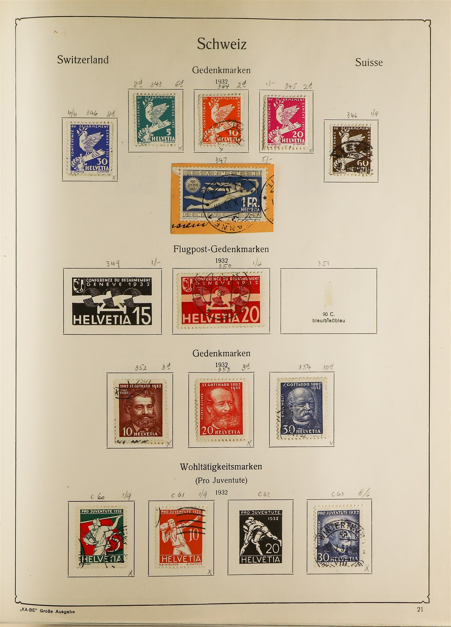 COLLECTIONS & ACCUMULATIONS FRANCE, GERMANY, SWITZERLAND IN TWO LARGE KA-BE ALBUMS with useful - Image 7 of 12