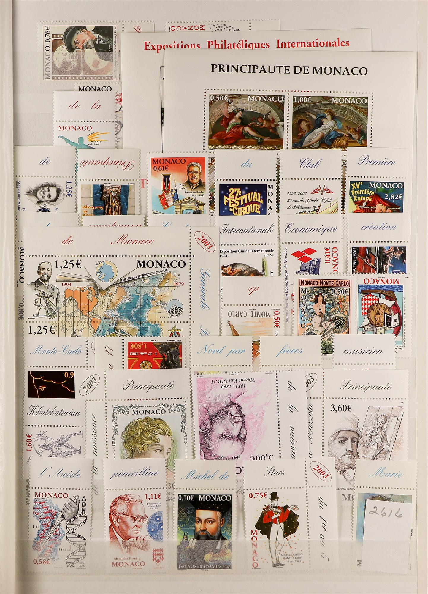 MONACO 1885-2003 MINT COLLECTION with value in the modern never hinged mint issues, note 1924-33 - Image 4 of 6