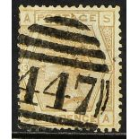 """GB.QUEEN VICTORIA 1873 ABNORMAL 6d pale-buff plate 13 ABNORMAL, SG 145 (Spec. J82), with neat """""""