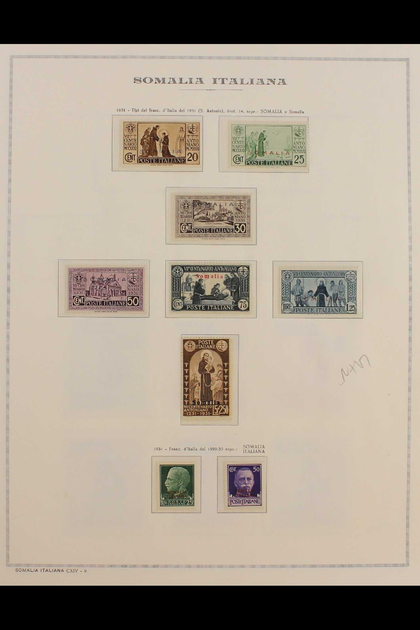 ITALIAN COLONIES SOMALIA 1922-1940 fine mint collection incl.1922 surcharged set, 1923 Fide set NHM, - Image 11 of 18