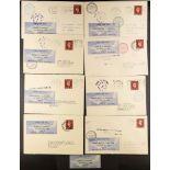 GREAT BRITAIN AIR MAIL COVERS - INTERNAL FLIGHTS: NORTH EASTERN AIRWAYS 1938 (3 October) range of