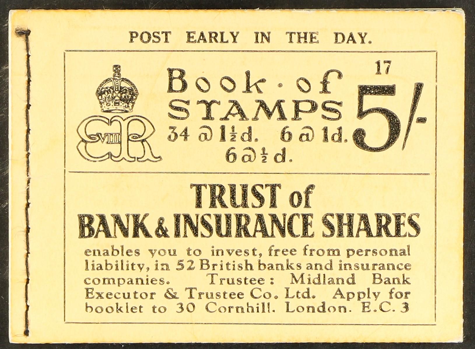 GB.EDWARD VIII BOOKLET 5s edition 17, SGBC4, very fine.