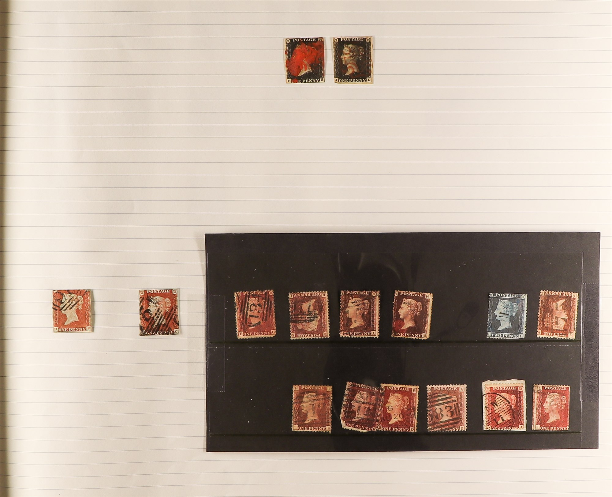 GREAT BRITAIN 1840-1999 COLLECTION in a ledger album, with 1840 1d blacks (2, fair), 1d red plates