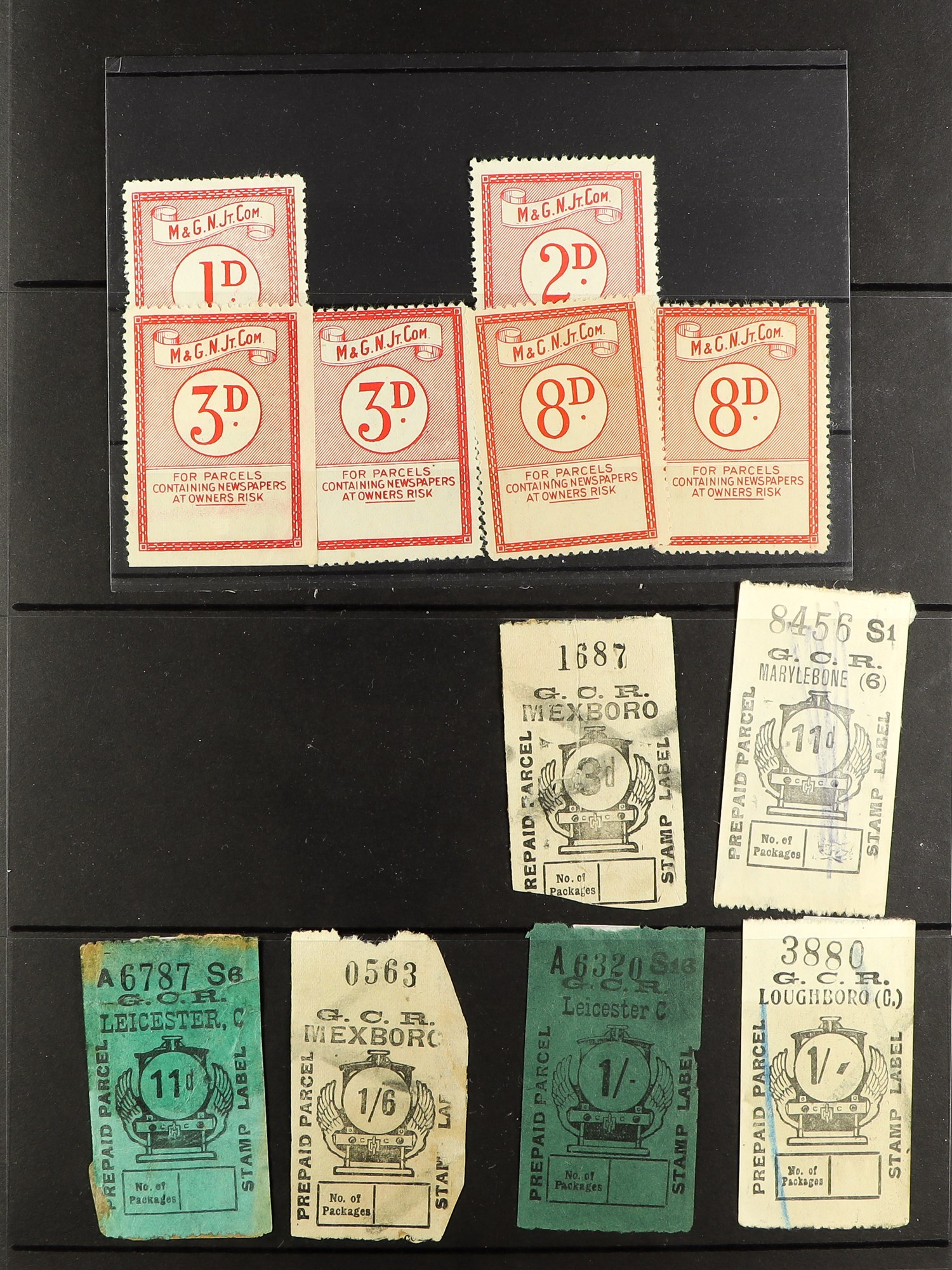 GREAT BRITAIN RAILWAY LETTER AND NEWSPAPER STAMPS 1890's-1940's COLLECTION in two albums, mint and - Image 15 of 24