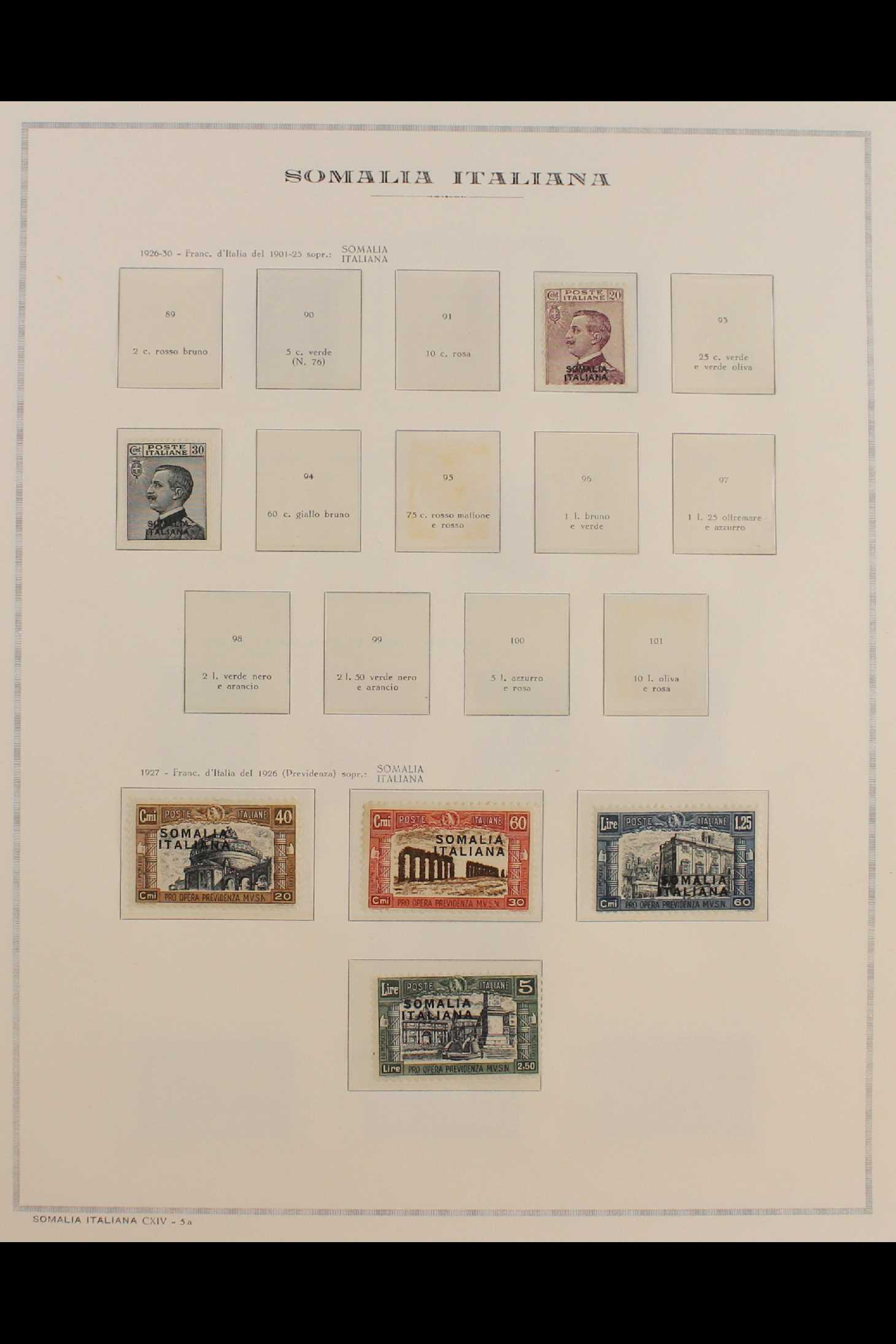 ITALIAN COLONIES SOMALIA 1922-1940 fine mint collection incl.1922 surcharged set, 1923 Fide set NHM, - Image 7 of 18