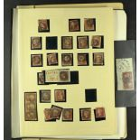 GREAT BRITAIN 1840-1970 ACCUMULATION IN TWO BOXES with ranges in a stockbook and on leaves, note