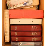 COLLECTIONS & ACCUMULATIONS WORLD CARTON incl. Royal Wedding 1981 collection in two albums with