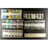 GB.ELIZABETH II GUTTER STAMP SETS 2008 - 2010. The complete run of mint gutter pairs, or strip