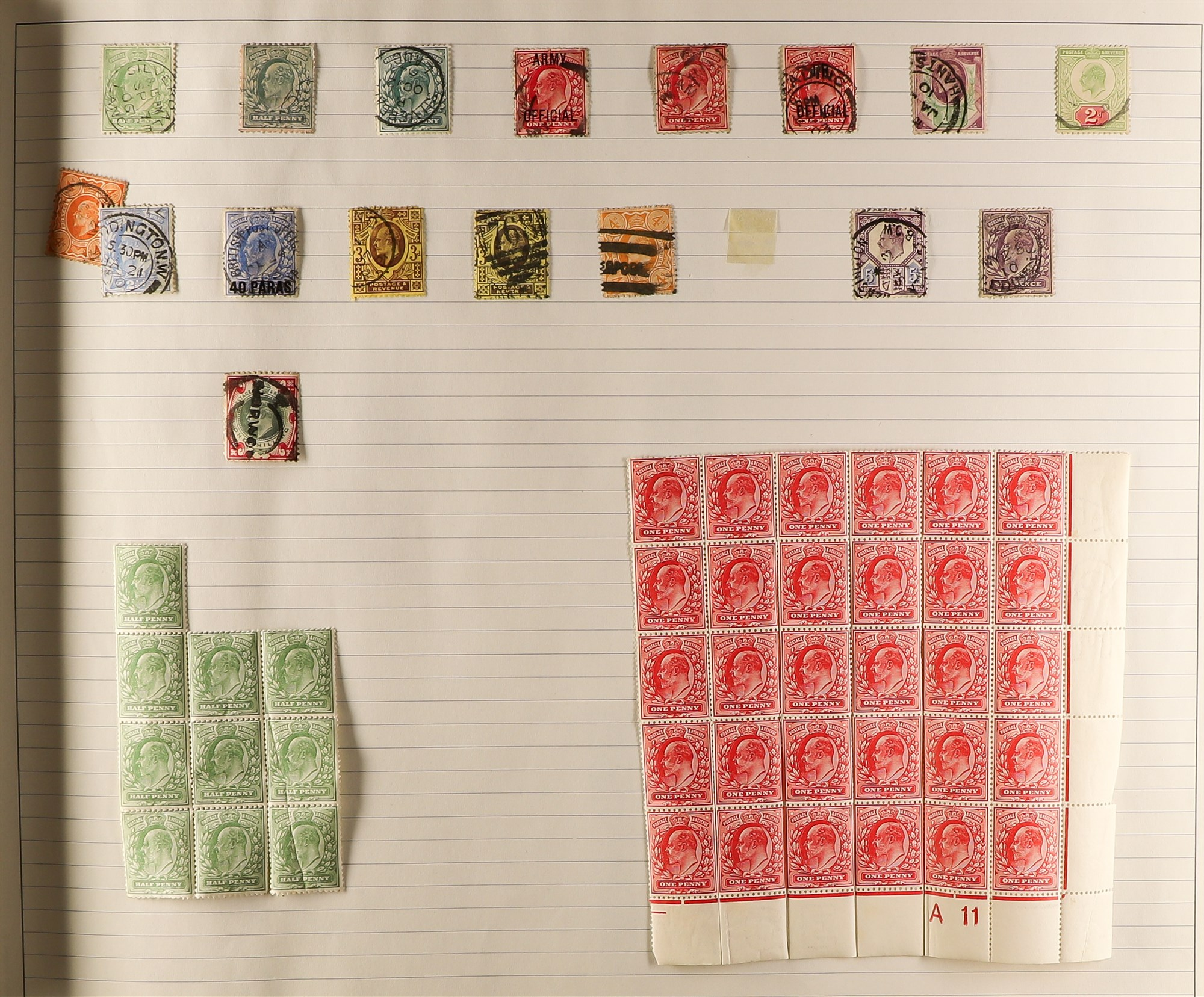 GREAT BRITAIN 1840-1999 COLLECTION in a ledger album, with 1840 1d blacks (2, fair), 1d red plates - Image 3 of 5