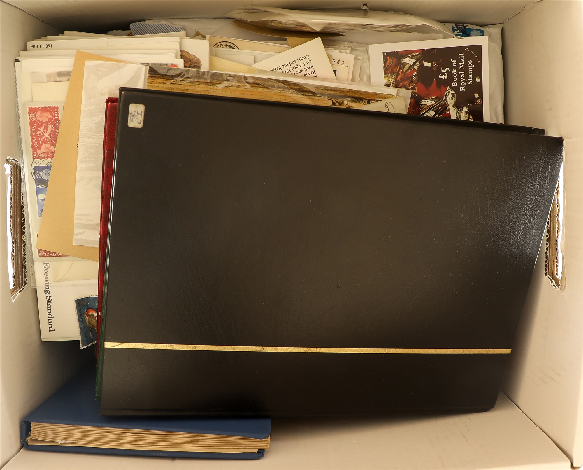COLLECTIONS & ACCUMULATIONS VAST WORLD ESTATE IN THIRTEEN BOXES with albums, stockbooks, pages,