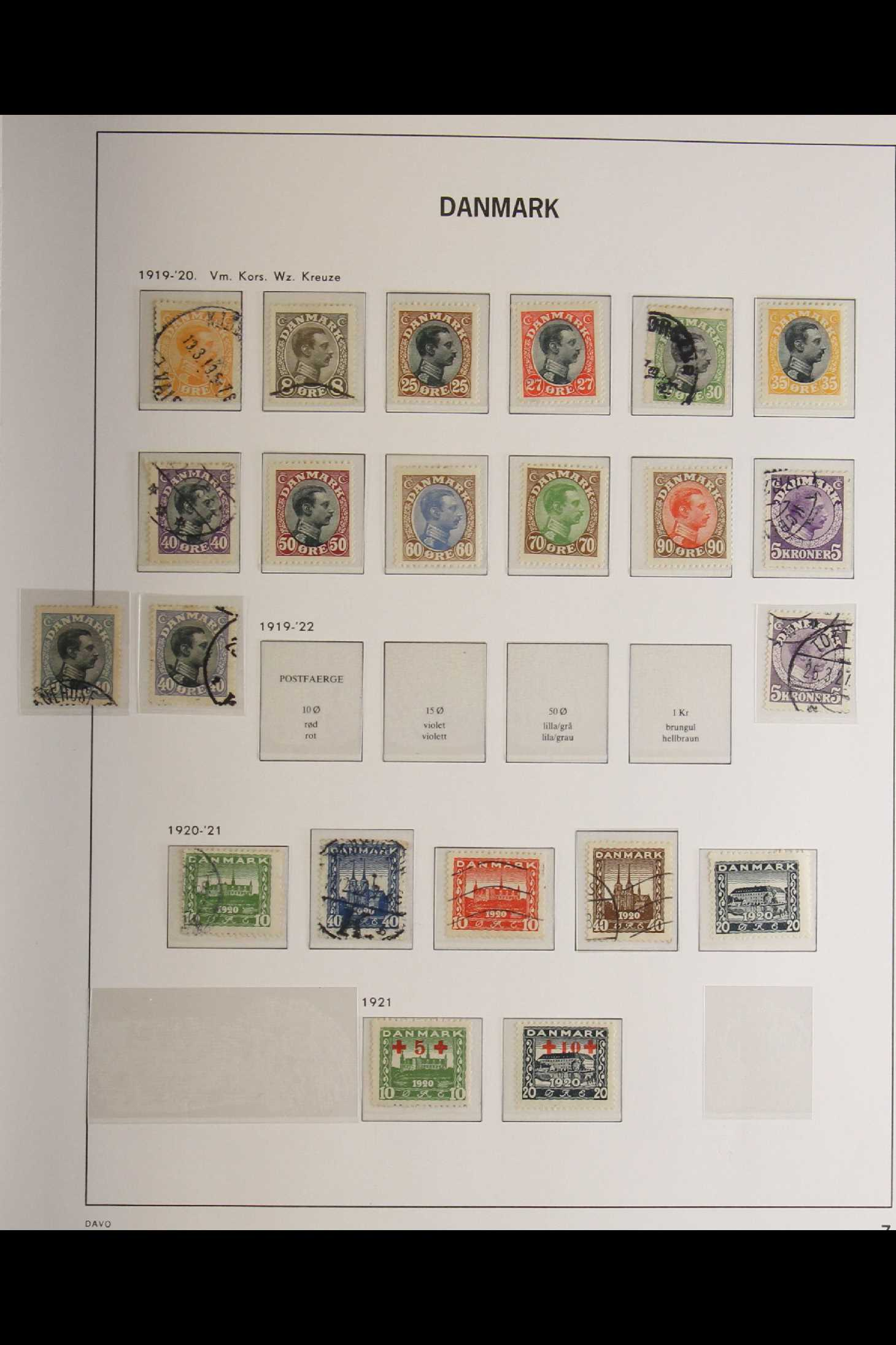 DENMARK 1882-1969 mint and used collection in an album incl. 1882 (small corner figures) 5 ore and - Image 3 of 15