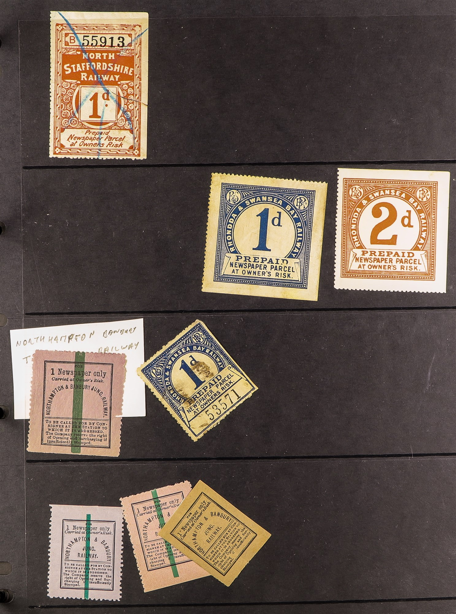 GREAT BRITAIN RAILWAY LETTER AND NEWSPAPER STAMPS 1890's-1940's COLLECTION in two albums, mint and - Image 20 of 24
