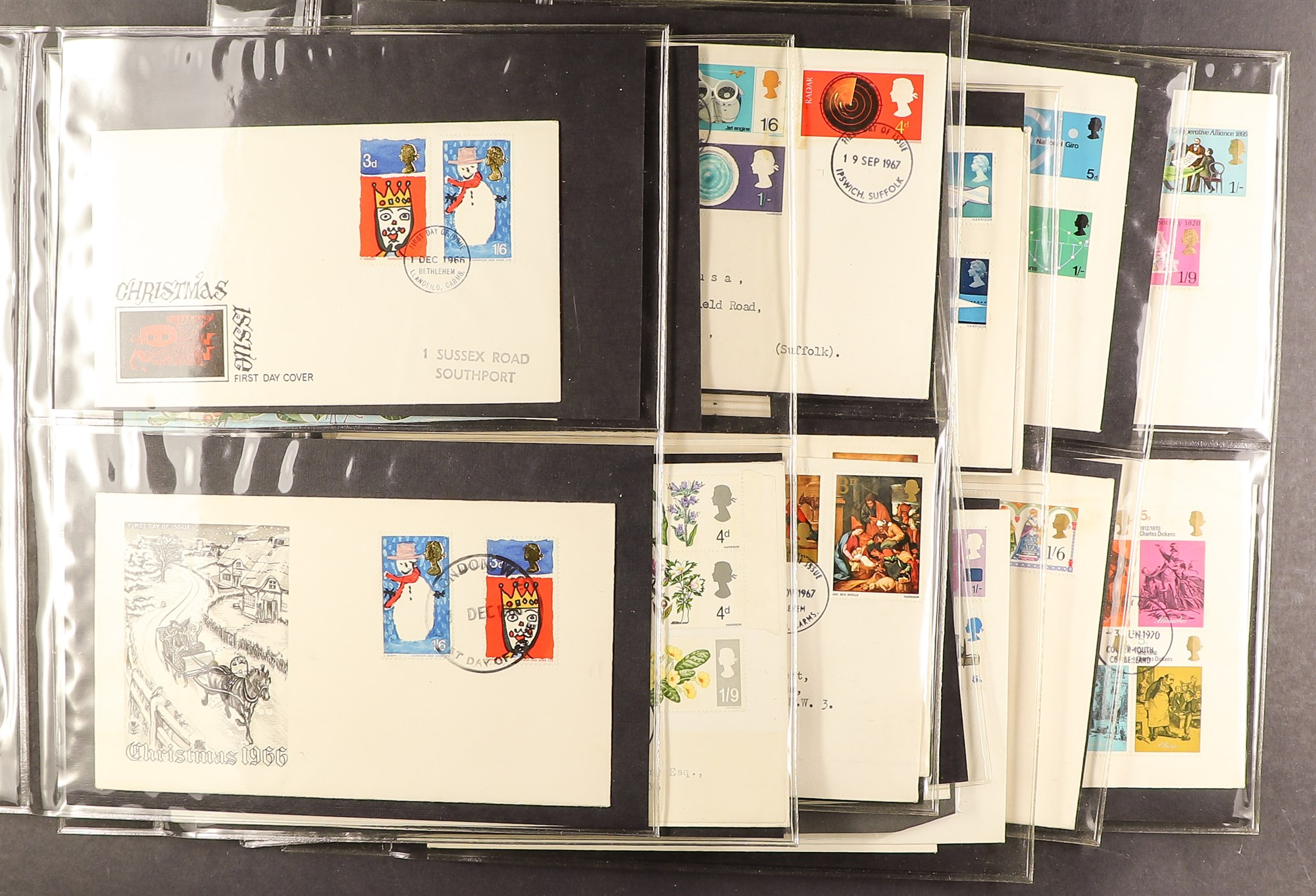 GB.FIRST DAY COVERS 1953 - 1969 COLLECTION includes 1953 Coronation (x2), 1957 Scouts with Sutton - Image 2 of 4