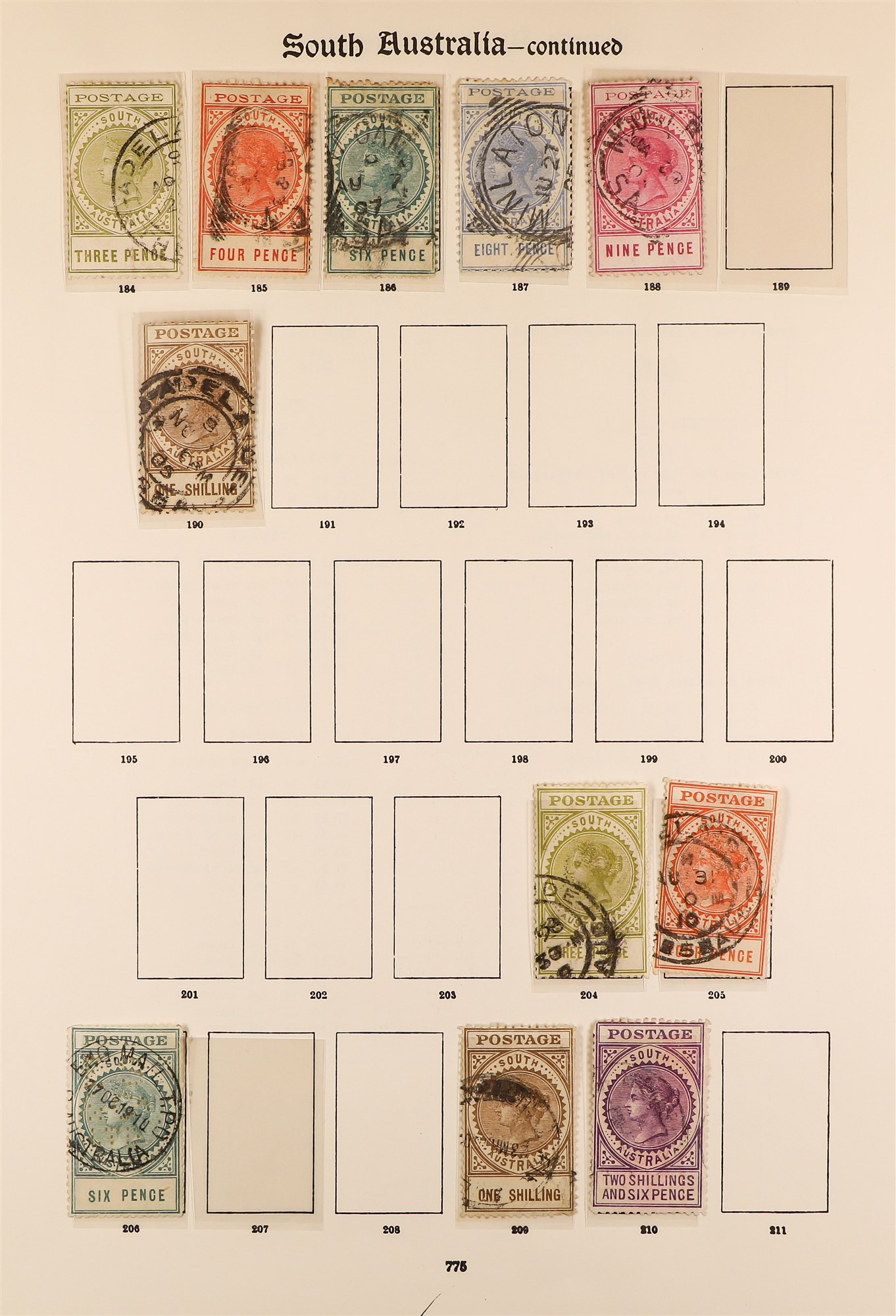 AUSTRALIAN STATES STATES ON IMPERIAL PAGES with ranges of NSW, Queensland, Tasmania, South , - Image 4 of 6