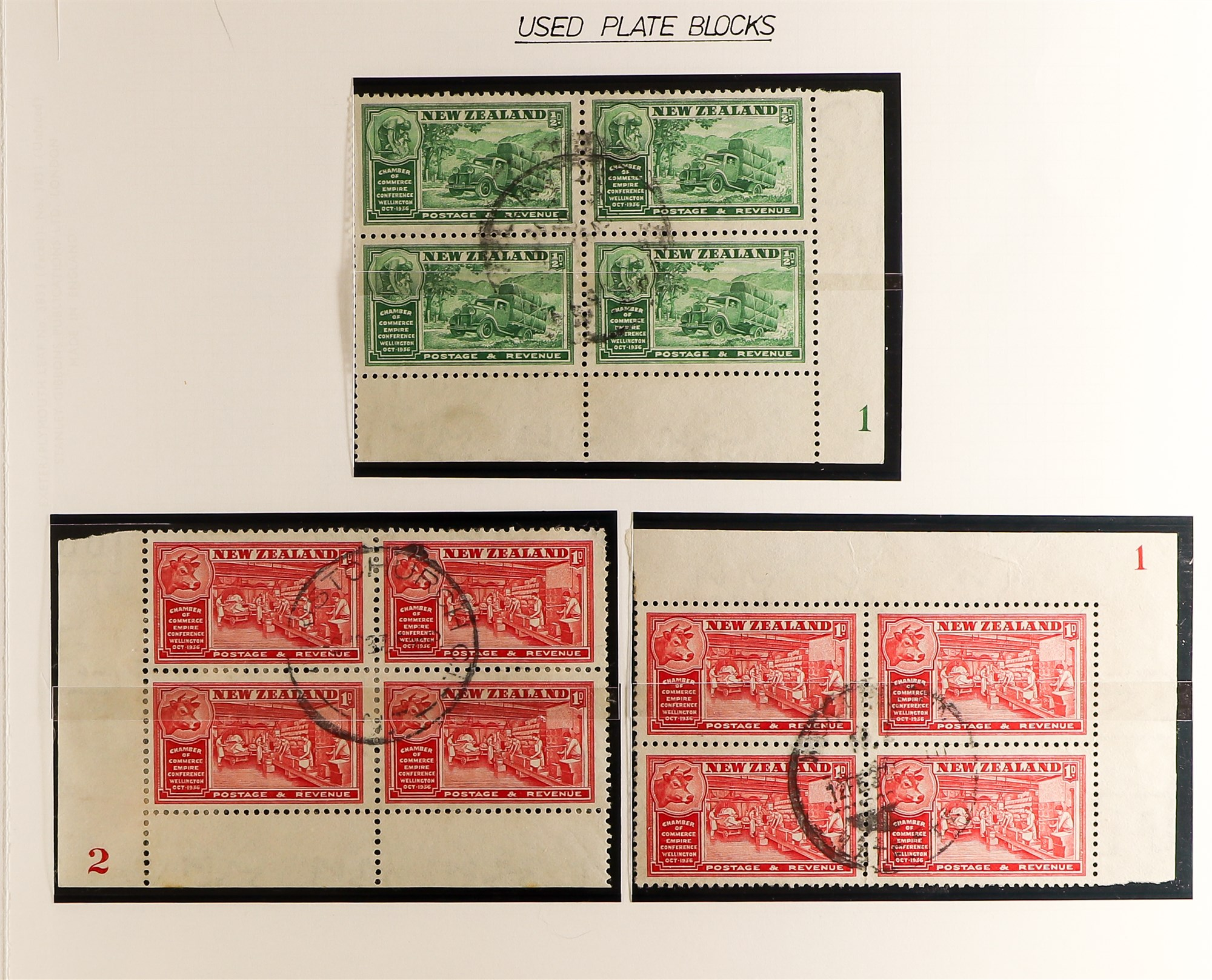 """NEW ZEALAND QV-1990'S USED COLLECTION includes 1929 1d Anti-TB, 1934 7d """"Trans-Tasman"""" opt, 1935 - Image 4 of 8"""