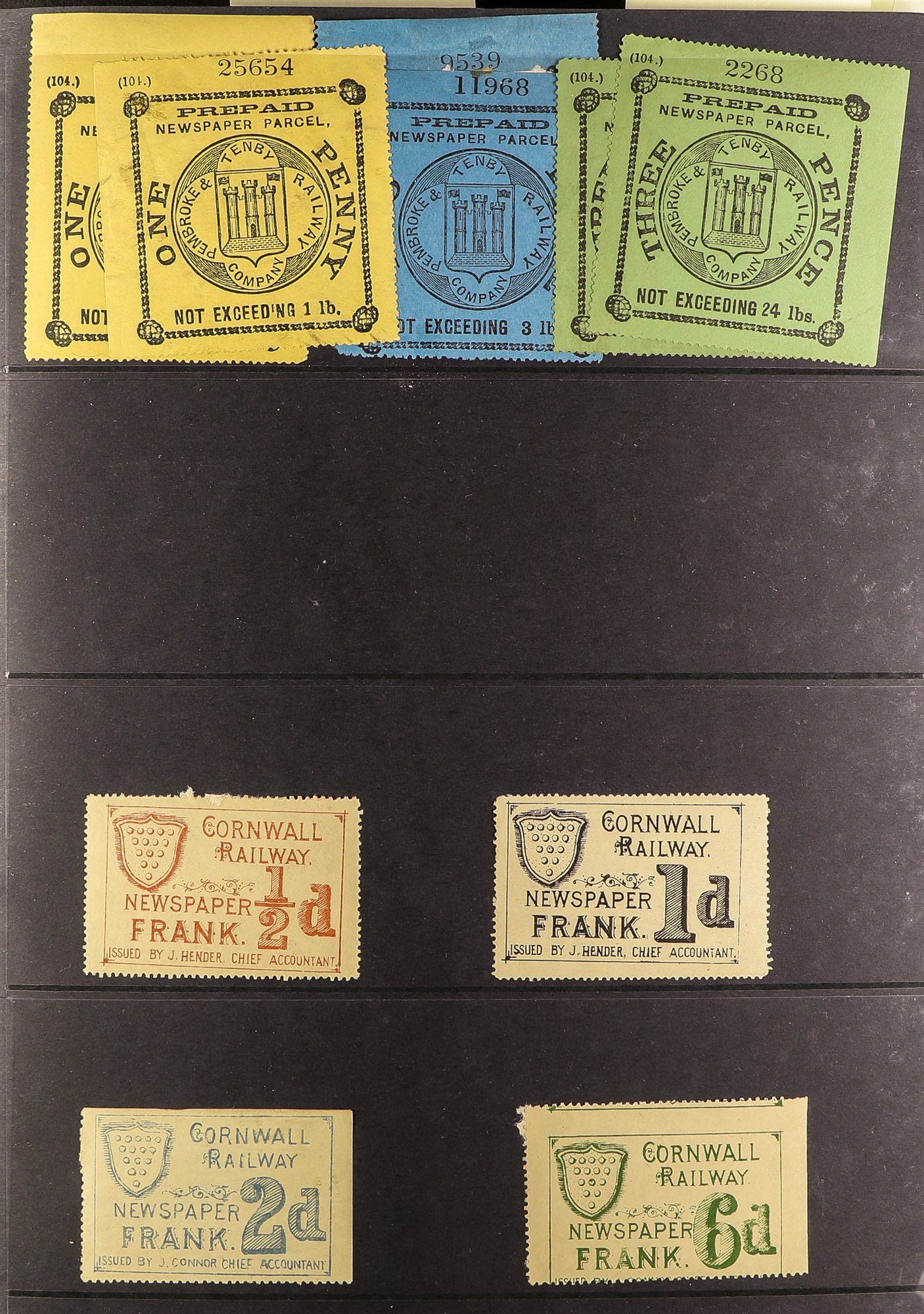 GREAT BRITAIN RAILWAY LETTER AND NEWSPAPER STAMPS 1890's-1940's COLLECTION in two albums, mint and - Image 14 of 24